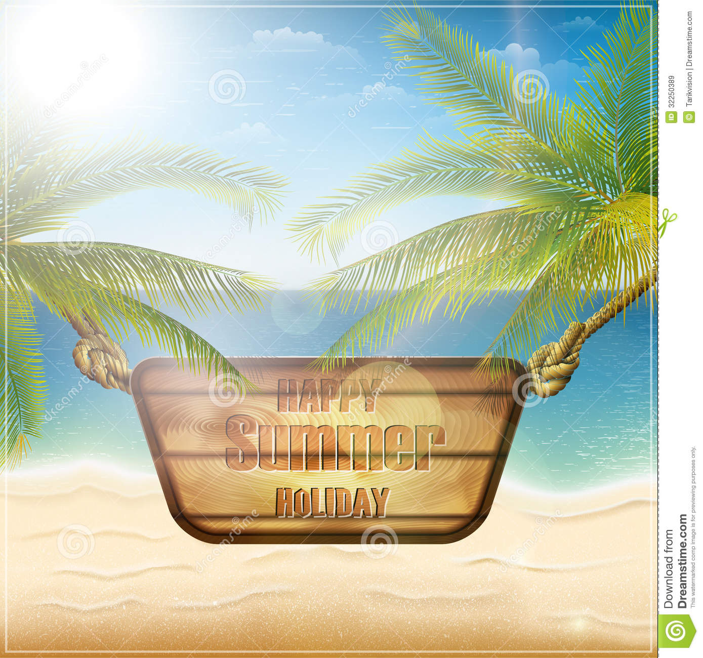 Happy Summer Holiday Card Royalty Free Stock Images   Image: 32250389