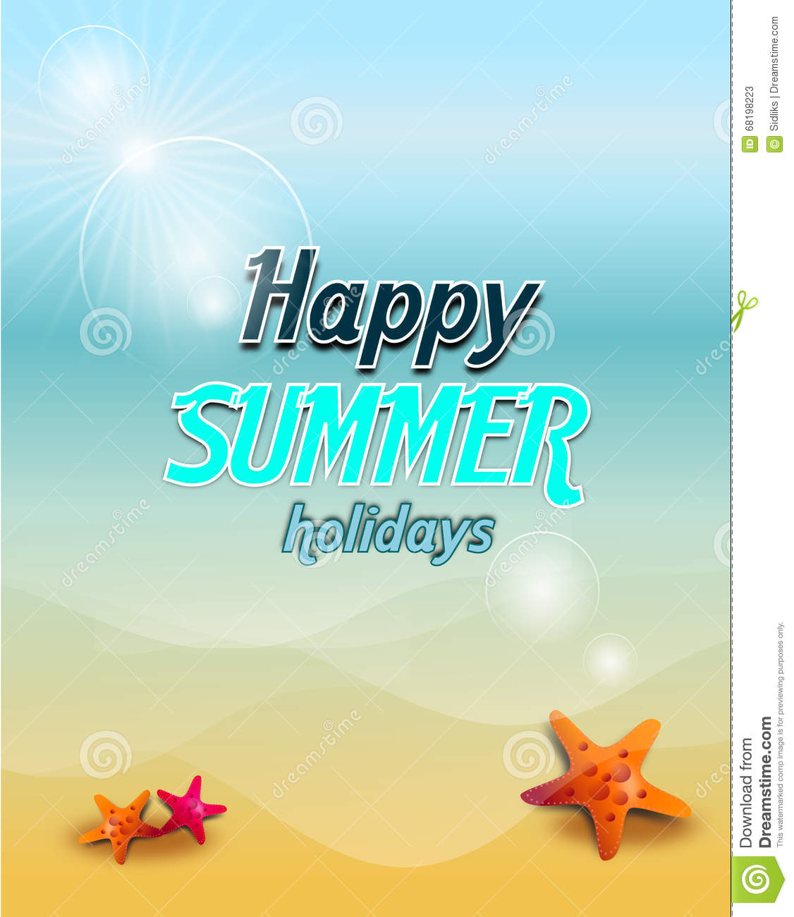Happy Summer Holiday Stock Illustration Image Of Card