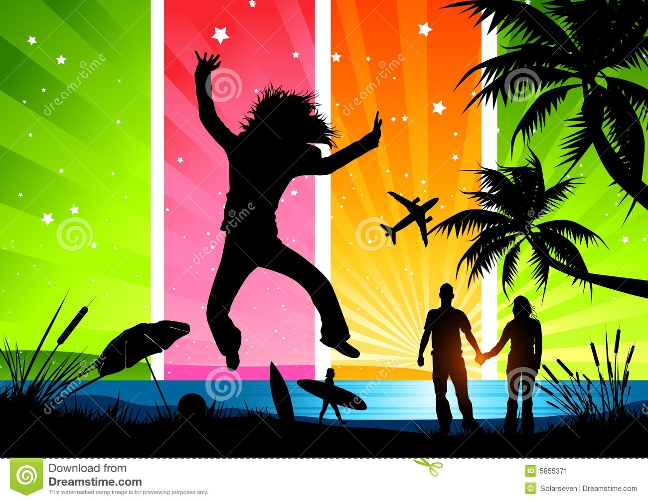 Happy Summer Holidays Stock Vector Image Of Backgrounds