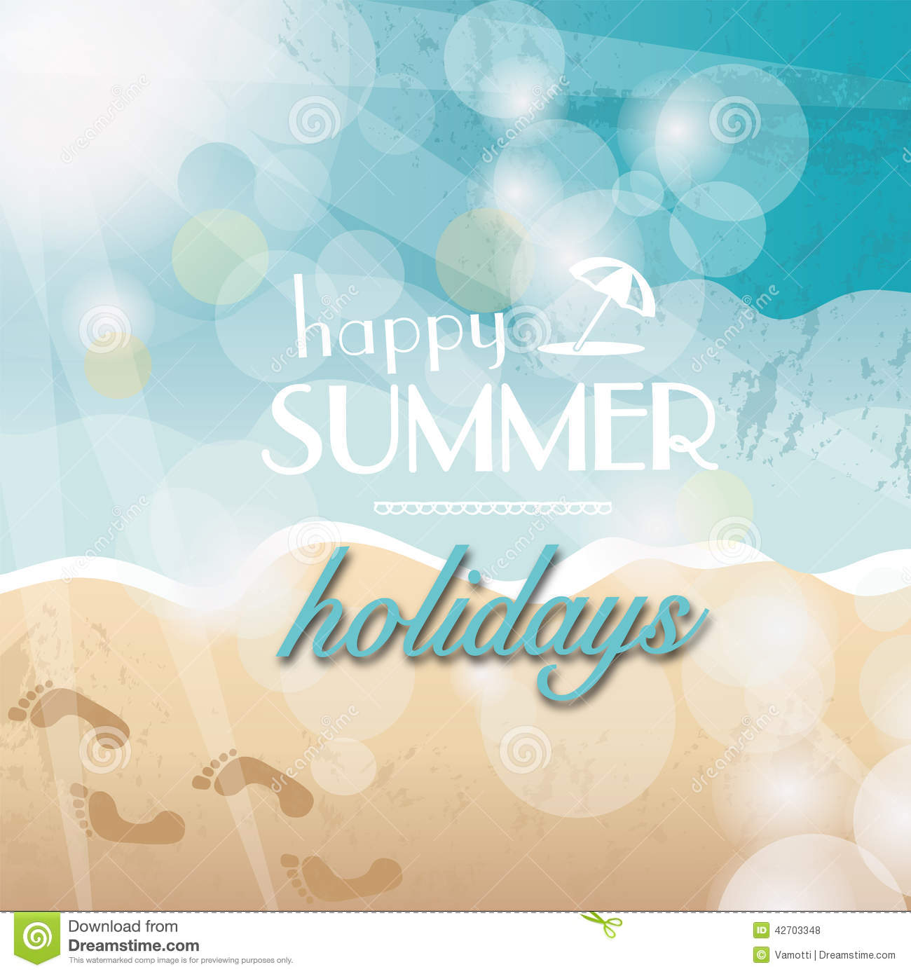 Happy Summer Holidays Stock Illustration Image Of