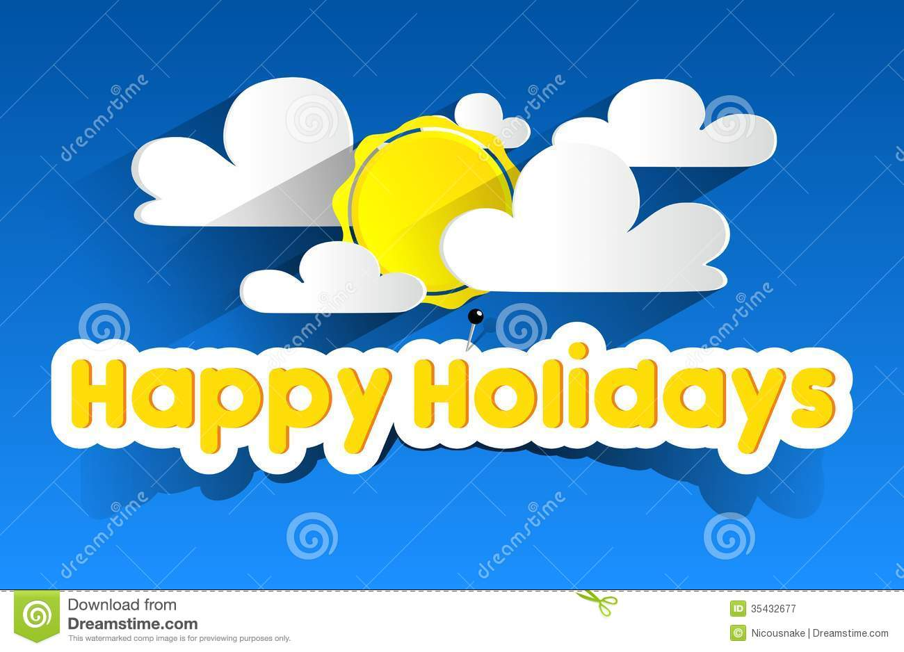 Happy Summer Holidays Stock Vector Image Of Creative