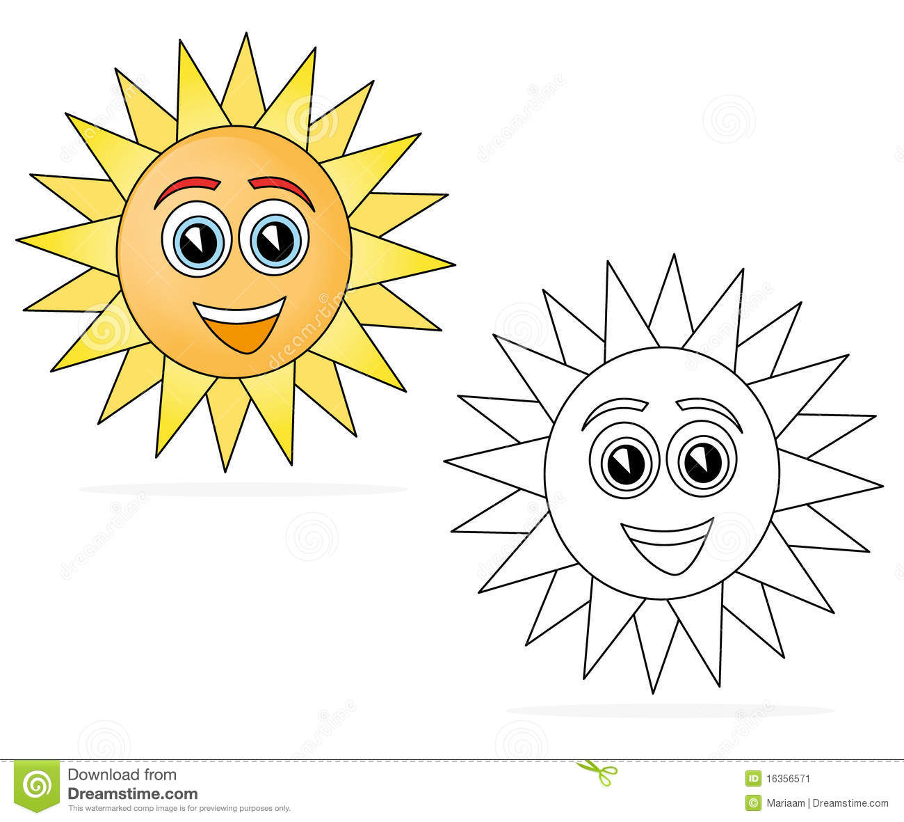 Happy sun cartoon stock illustration. Illustration of book ...