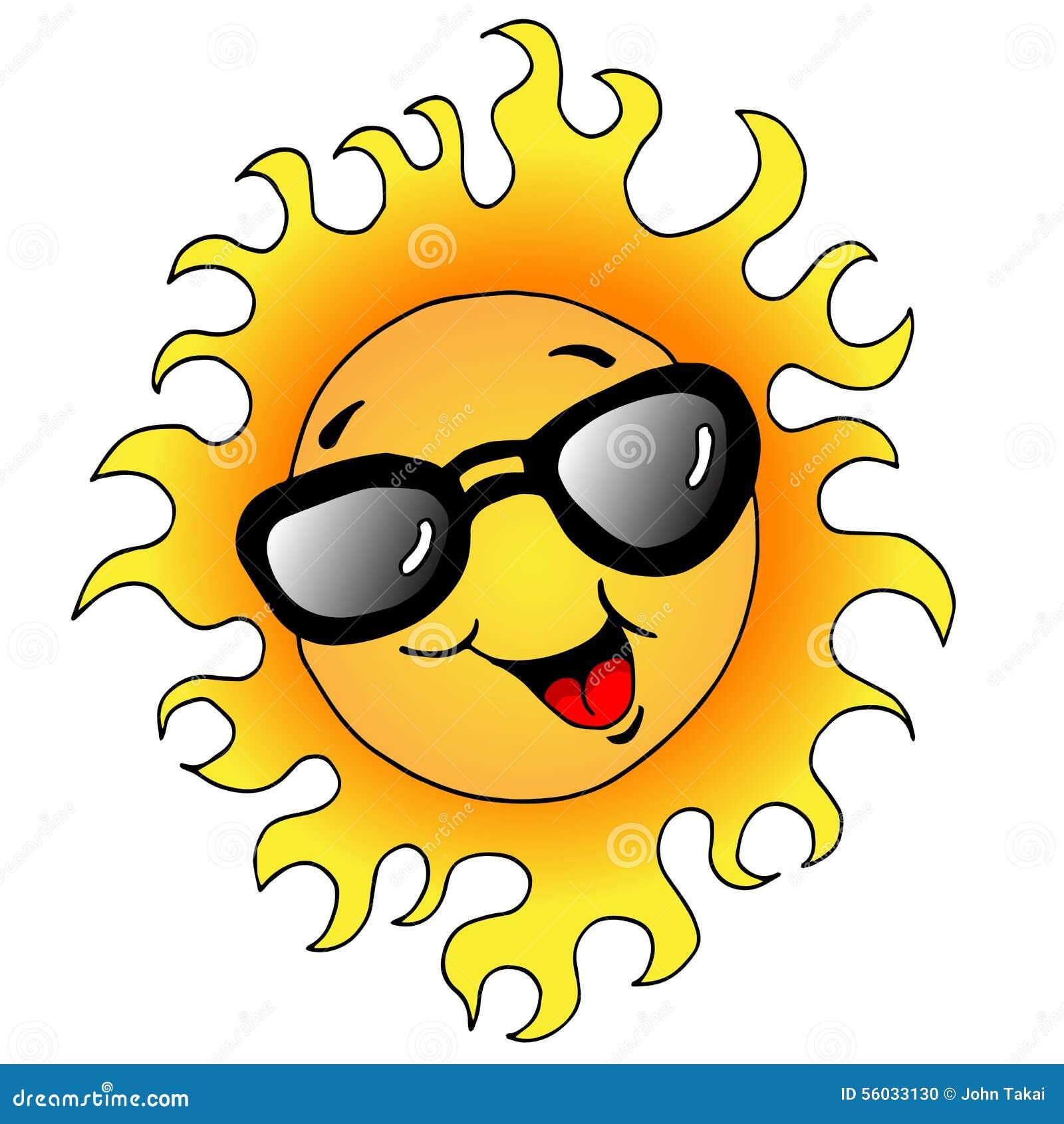 Happy Sun With Sunglasses Stock Vector - Image: 56033130