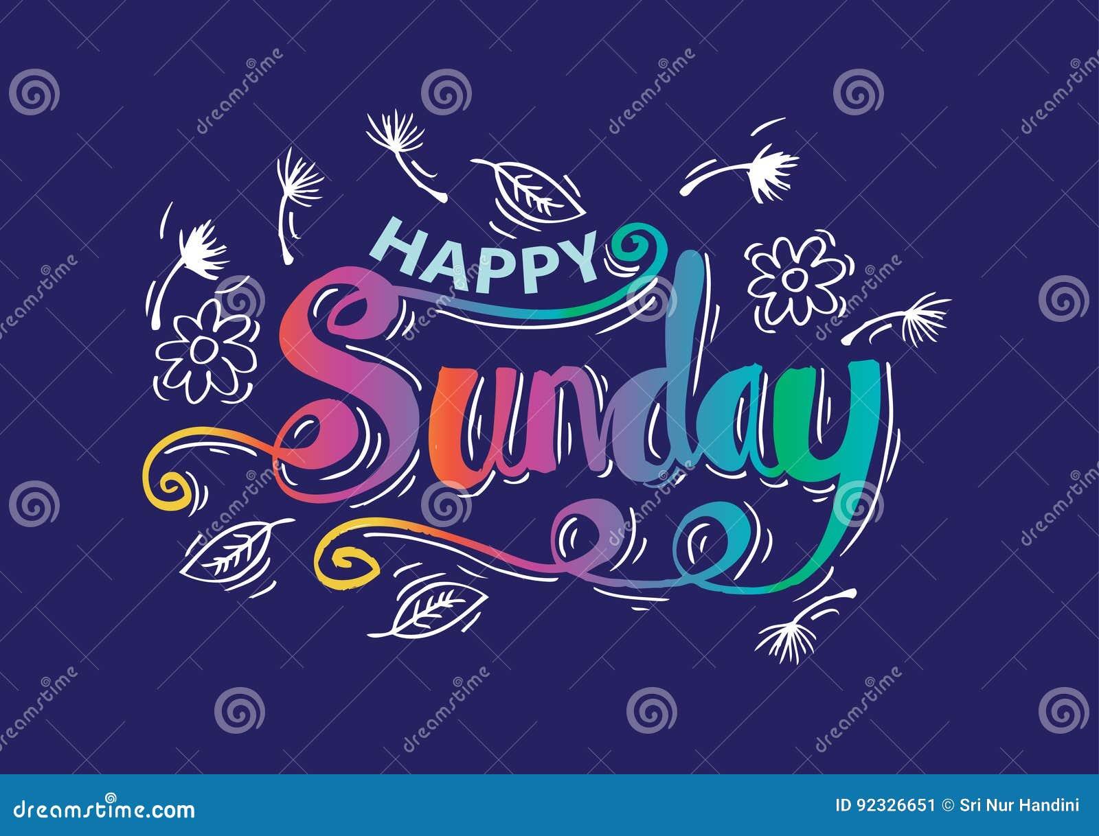 Happy Sunday Stock Illustration Illustration Of Morning 92326651