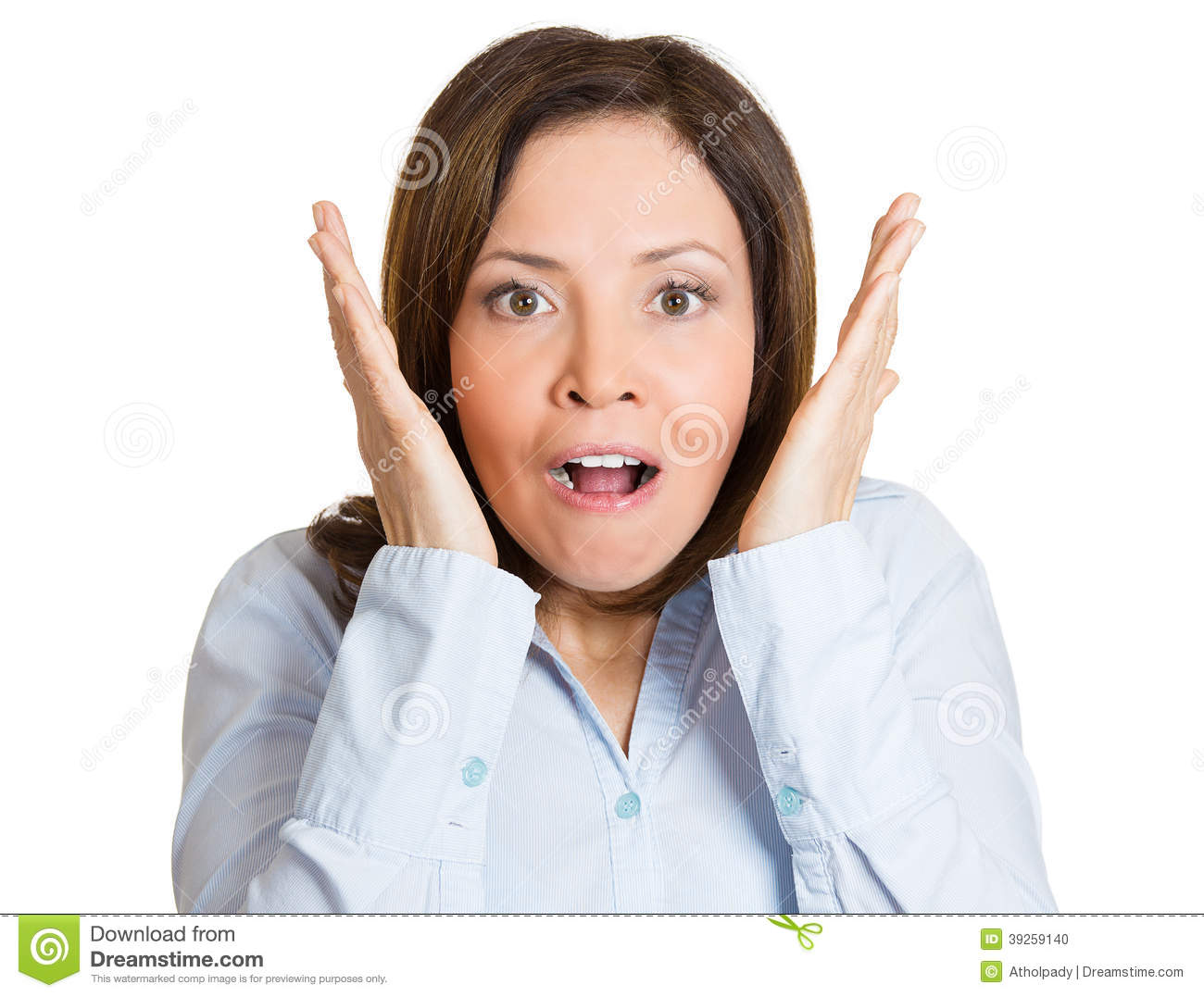 Excited Woman Face