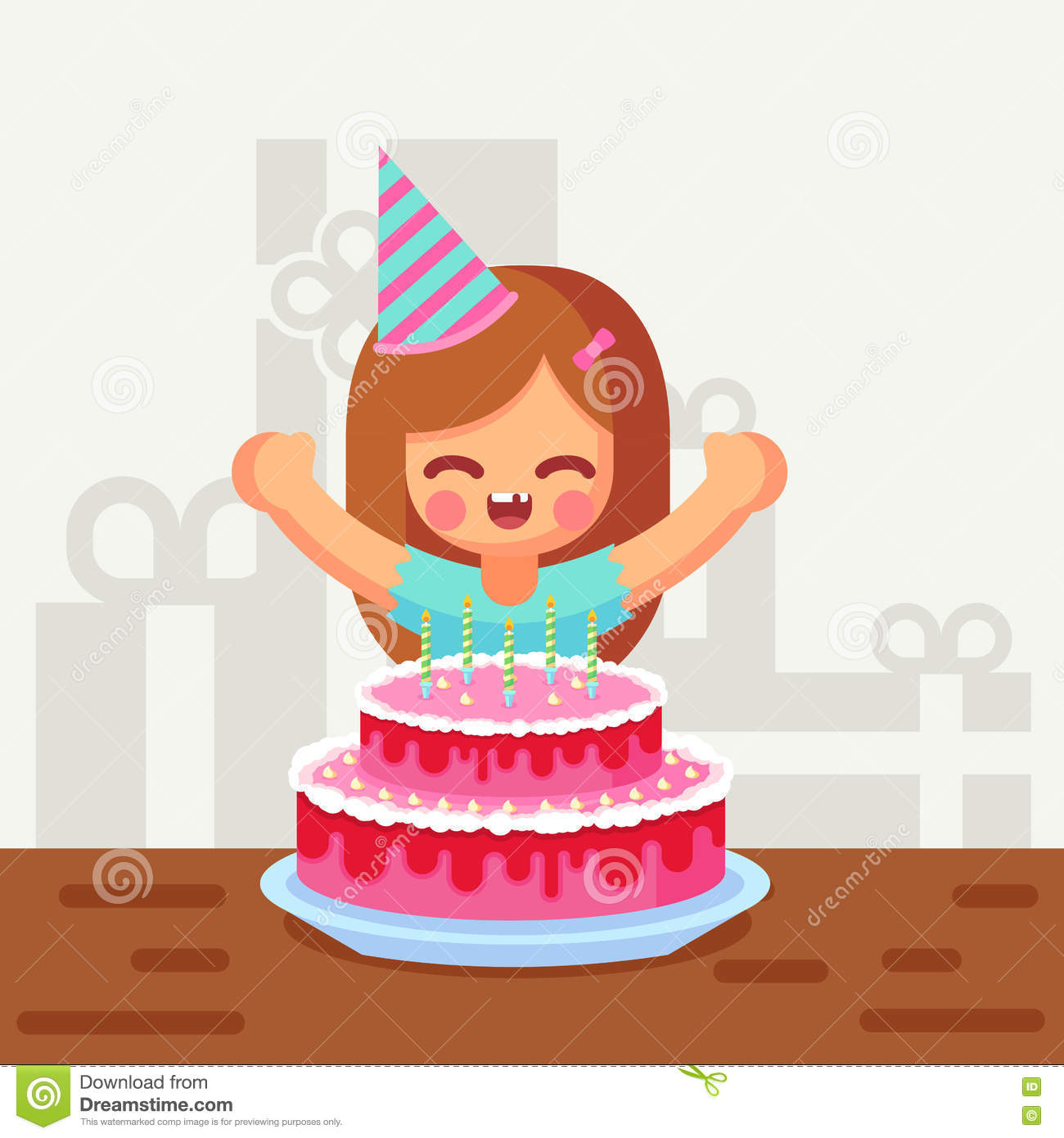 Cute Cartoon Cake Images : Cartoon Girl With Birthday Cake Pictures to Pin on ...
