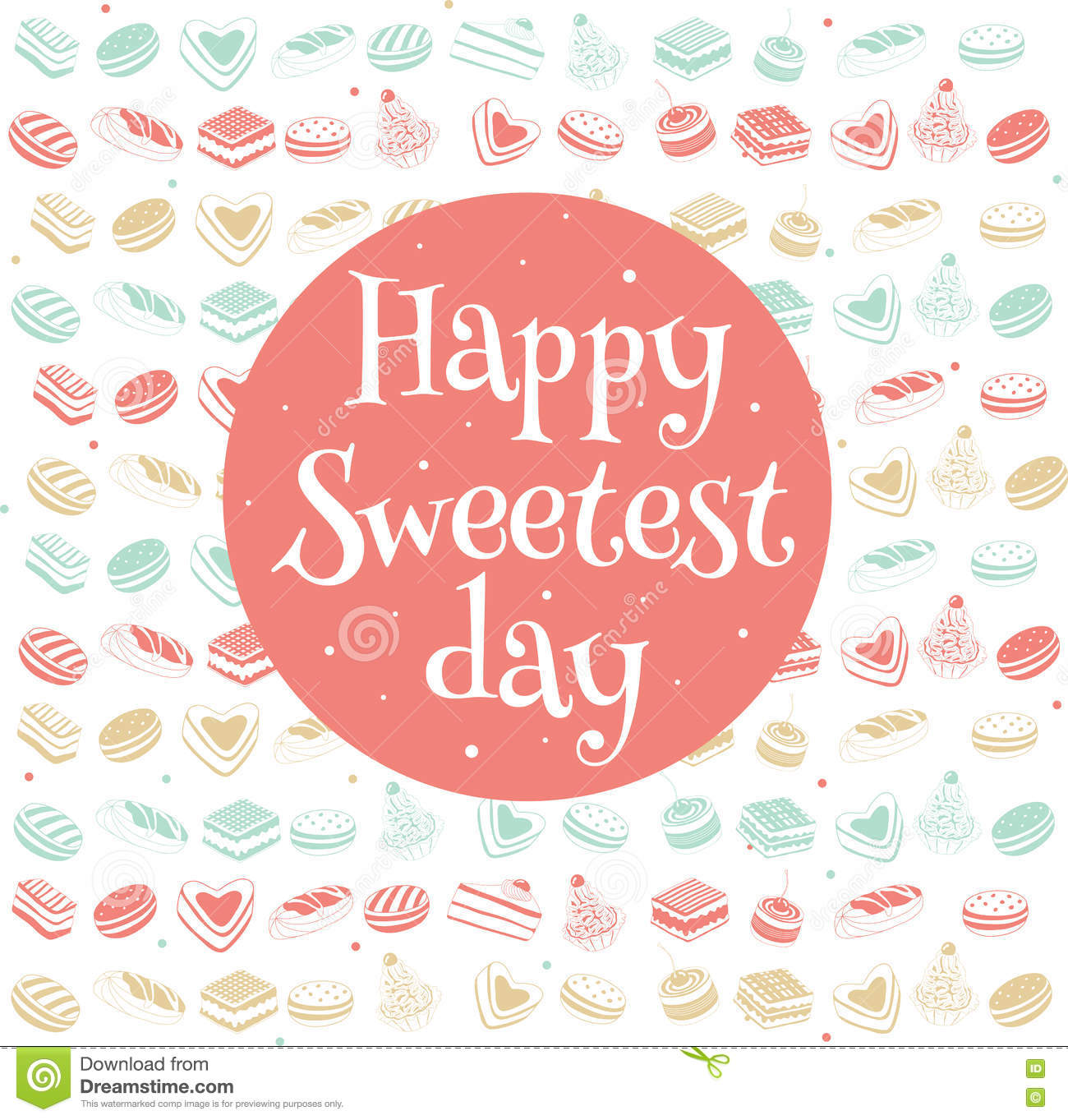 Happy Sweetest Day Card Stock Vector Illustration Of Cooky 78610569