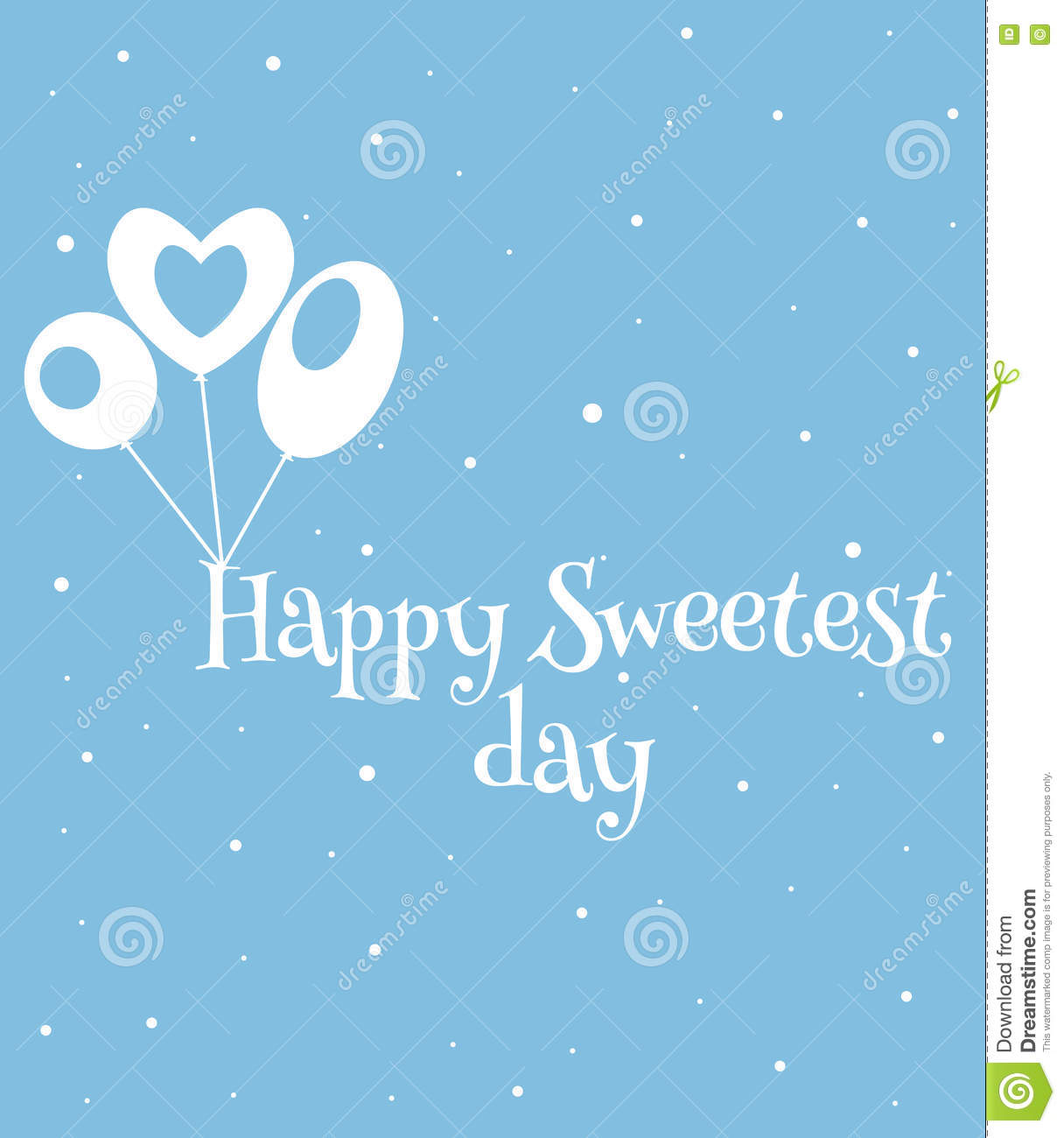 Happy Sweetest Day Card Stock Vector Illustration Of Flyer 78610726