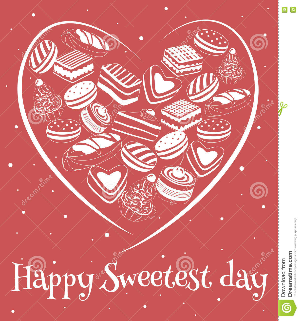 Happy Sweetest Day Card Stock Vector Illustration Of Cooky 78610735