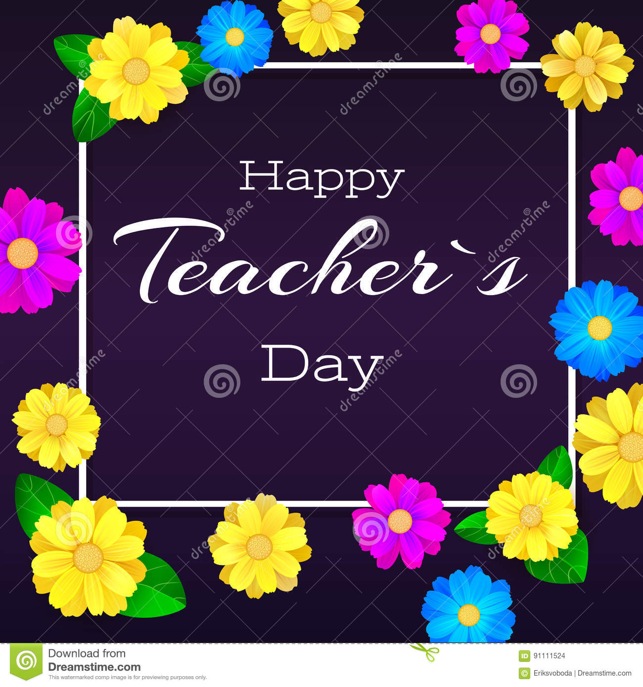 Happy teacher day greeting banner for your congratulations cards download comp m4hsunfo