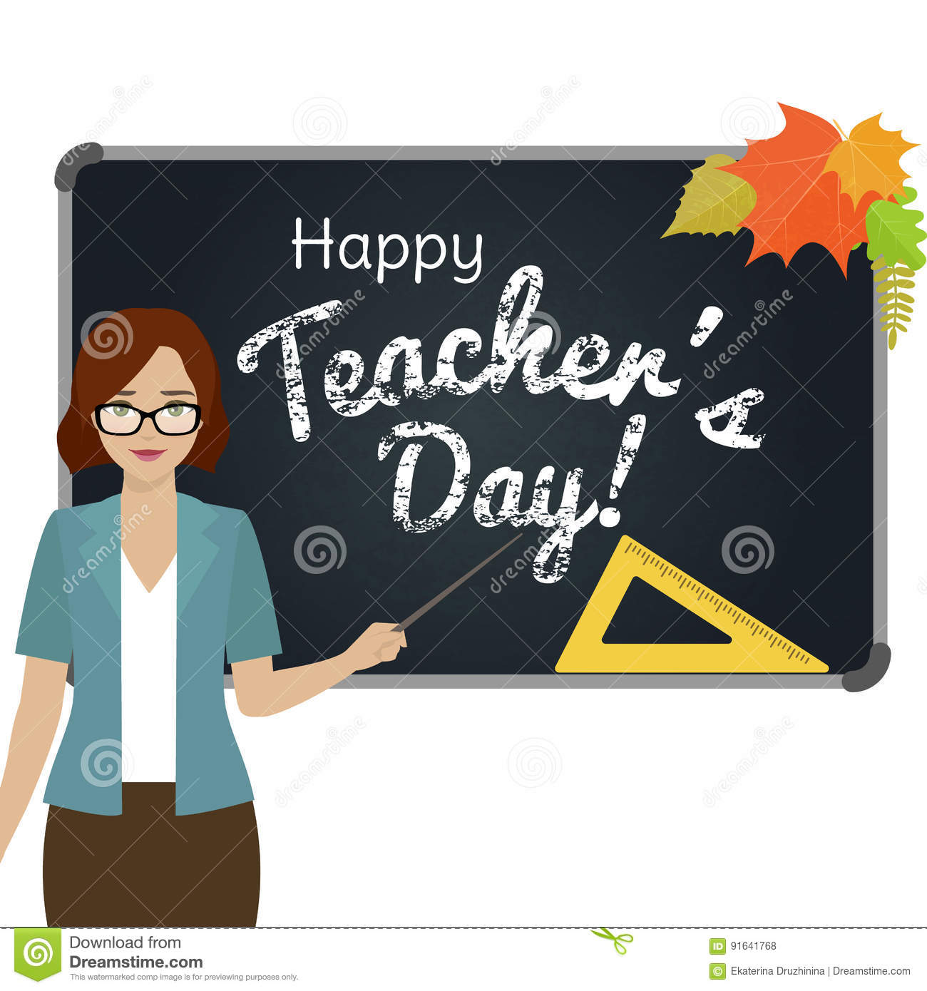 Happy teacher day greeting stock vector illustration of happy download comp m4hsunfo