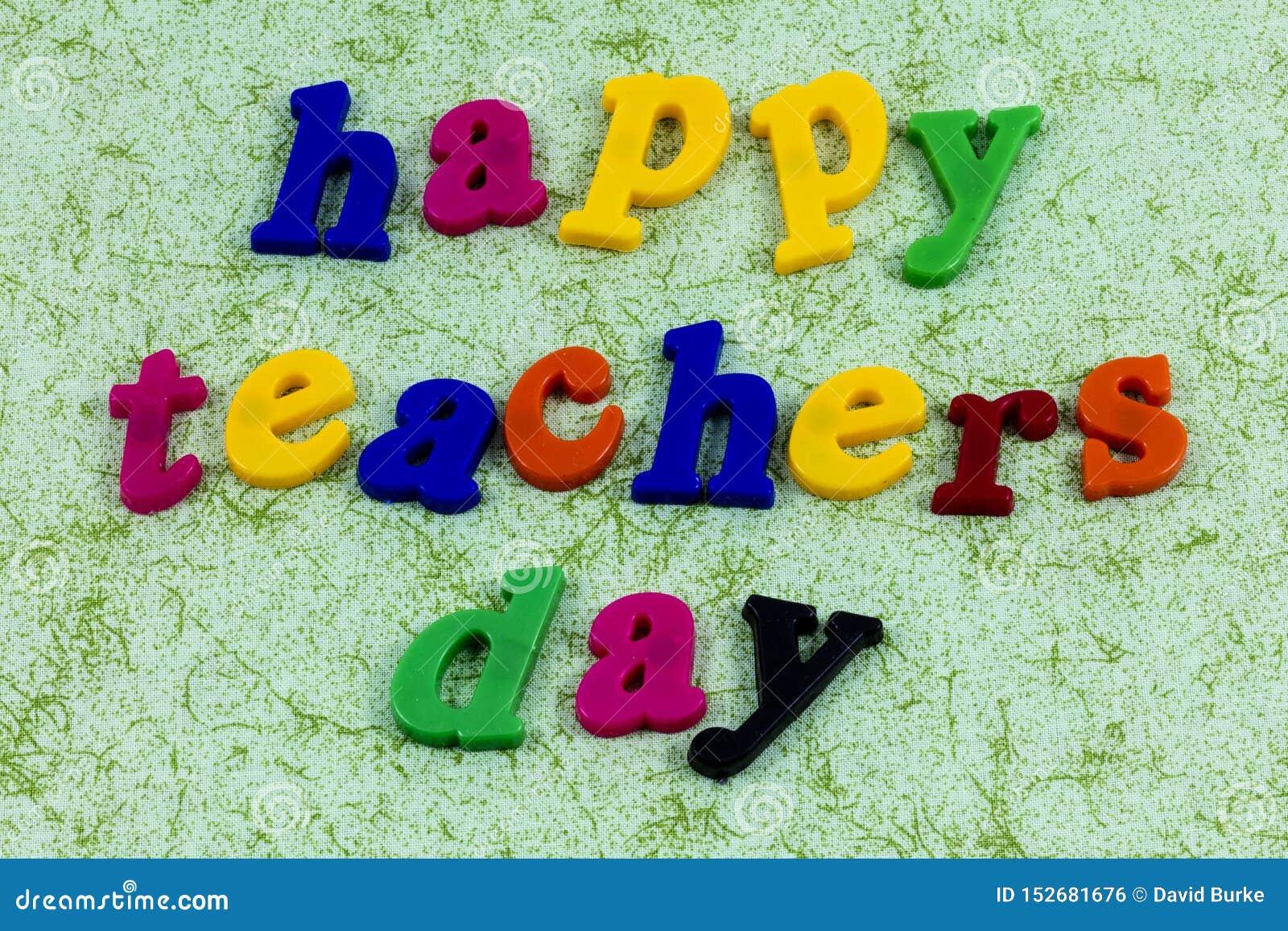 Happy Teacher Day Teach Appreciation Love Learn School Stock