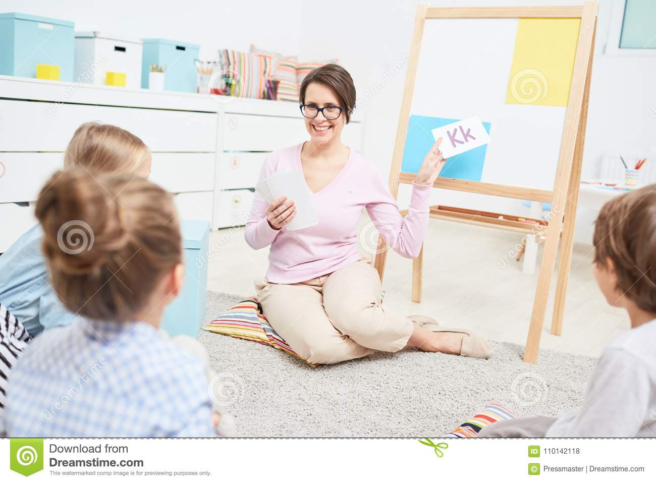 Learning Letters Stock Photo Image Of Elementary Caucasian