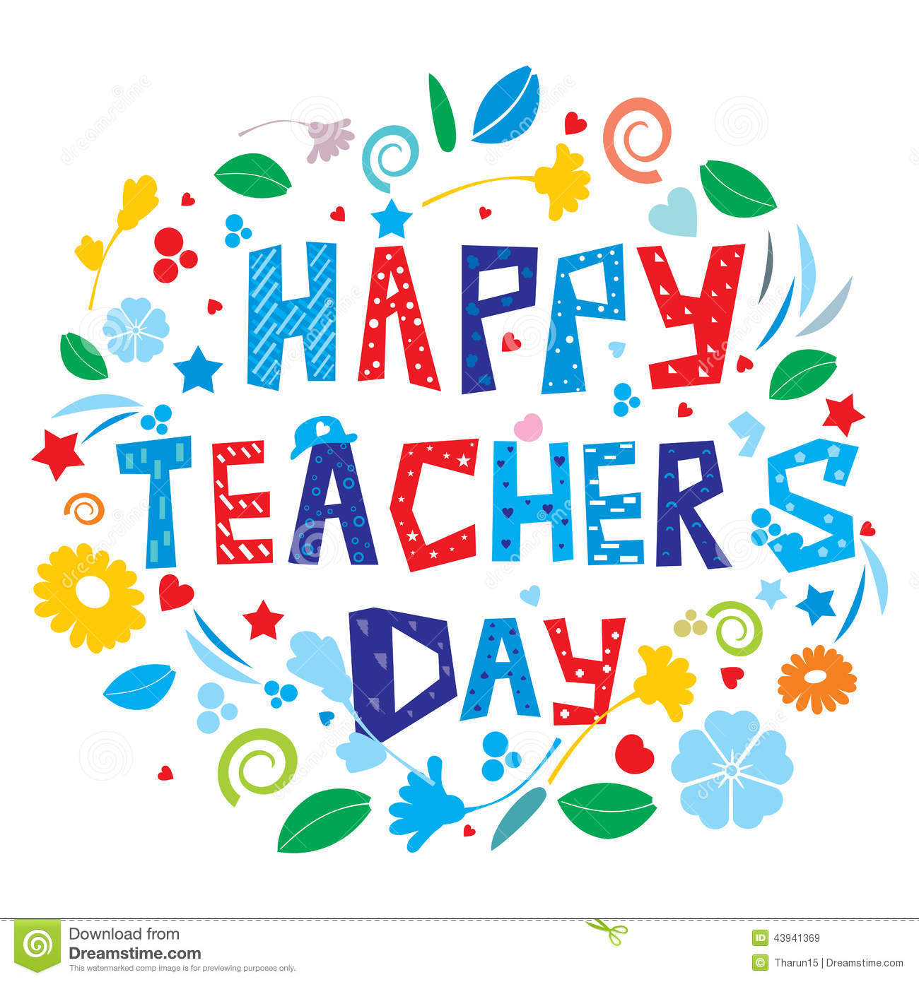 Super Happy Teacher's Day stock image. Image of october - 43941369 #UP73