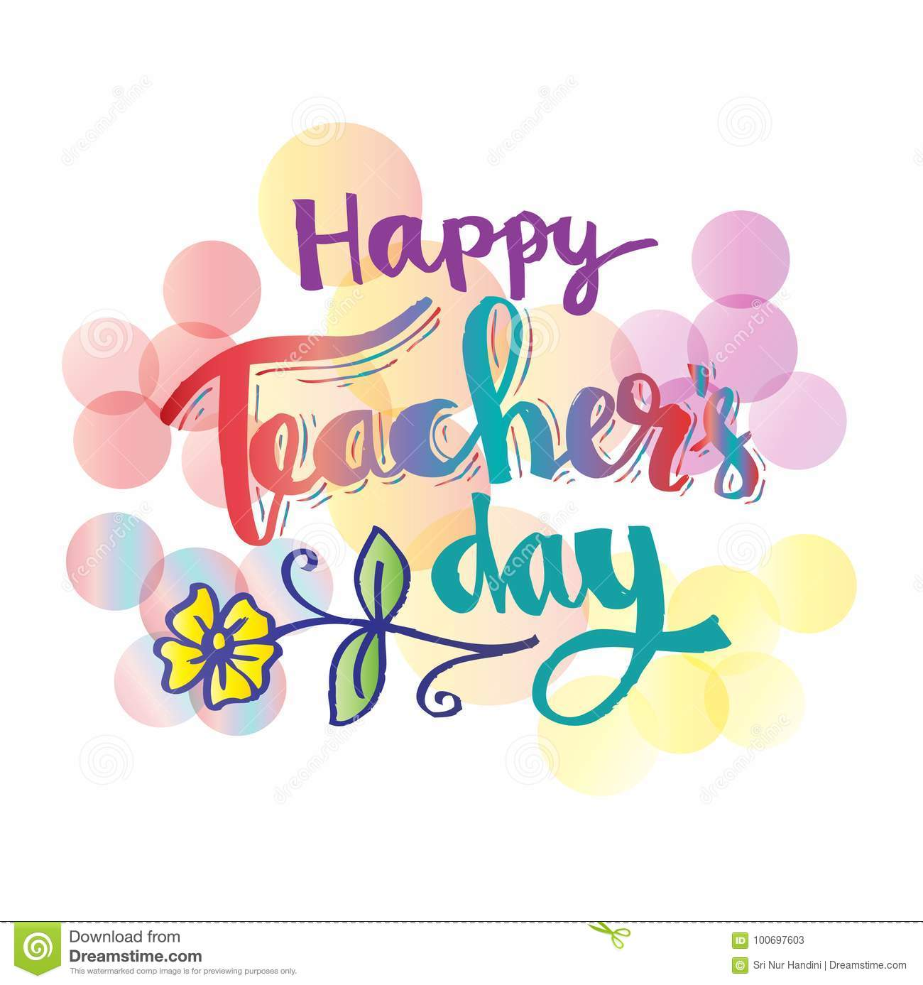 Happy Teachers Day Card Stock Vector Illustration Of