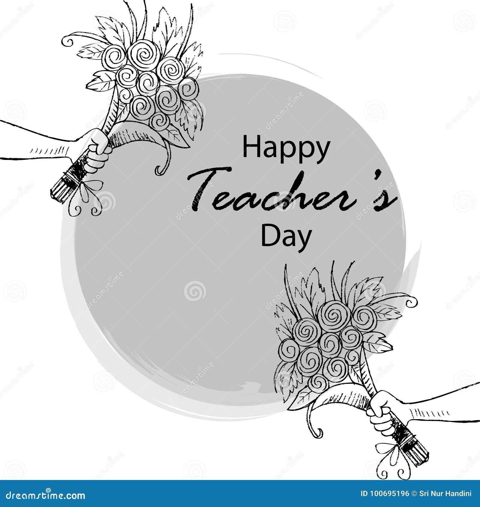 Happy teachers day card stock vector. Illustration of happy