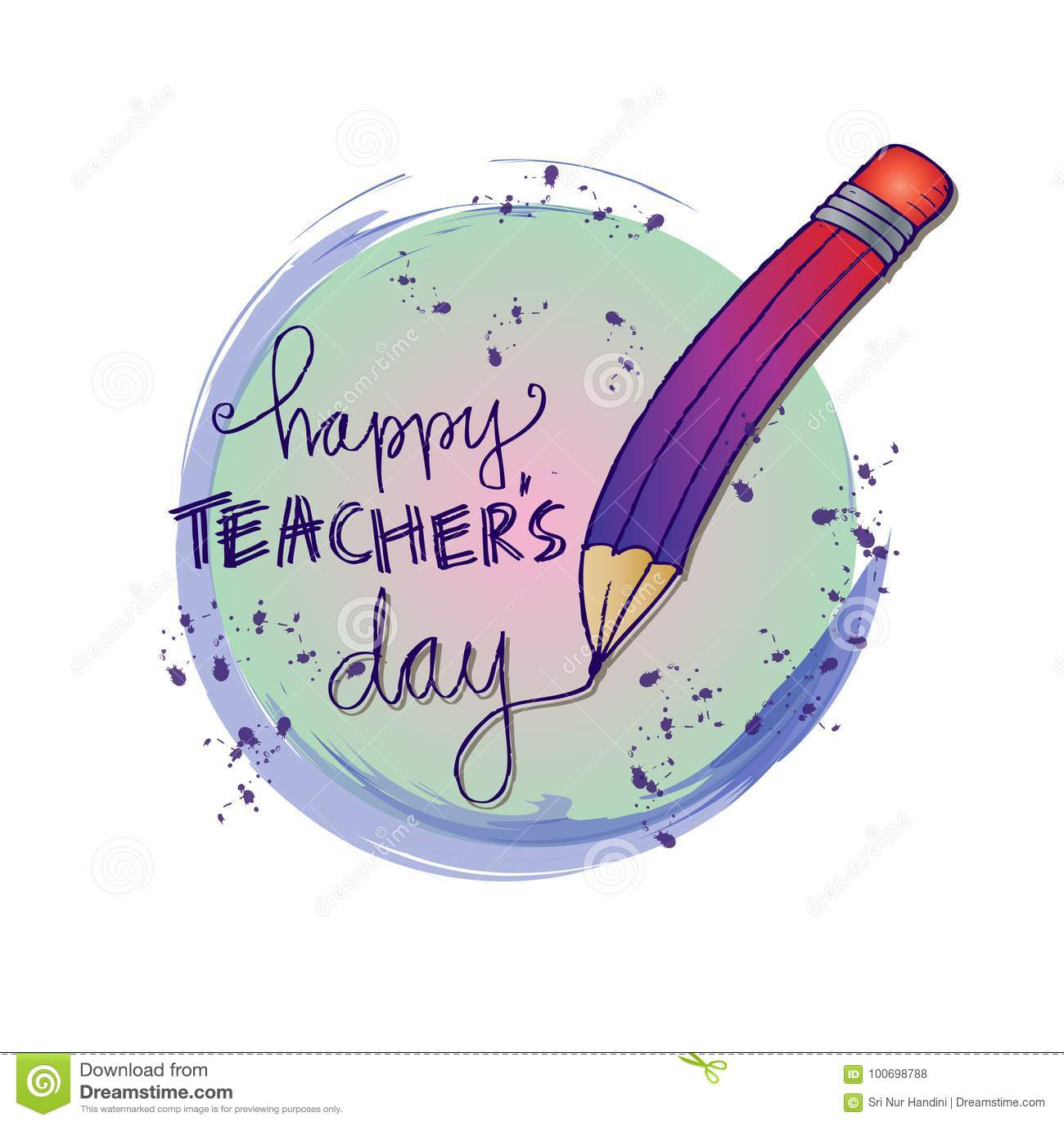 Happy teachers day card stock vector illustration of bubble