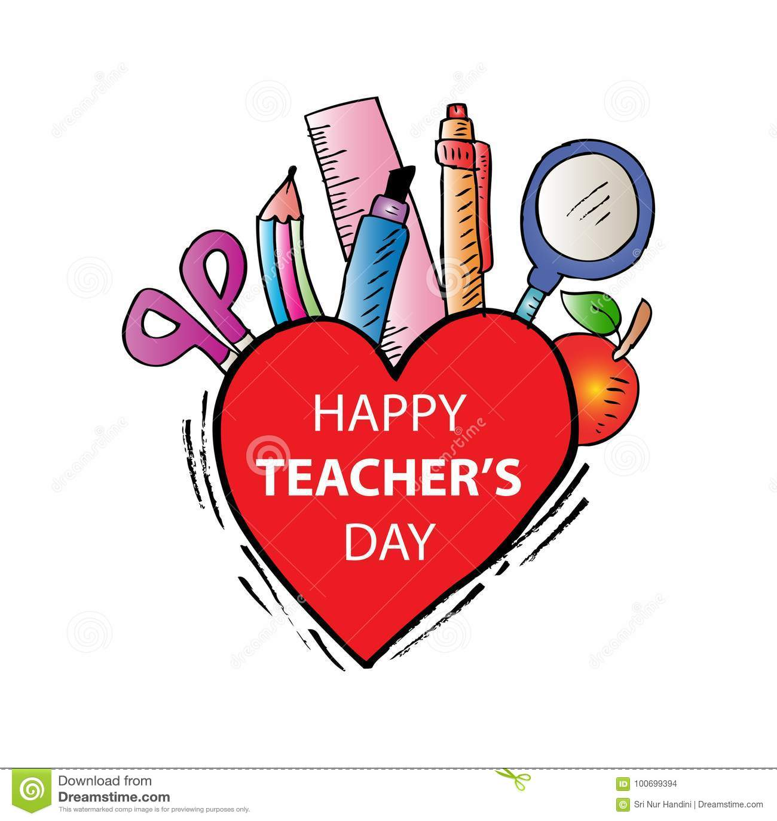 Happy teachers day stock vector  Illustration of concept