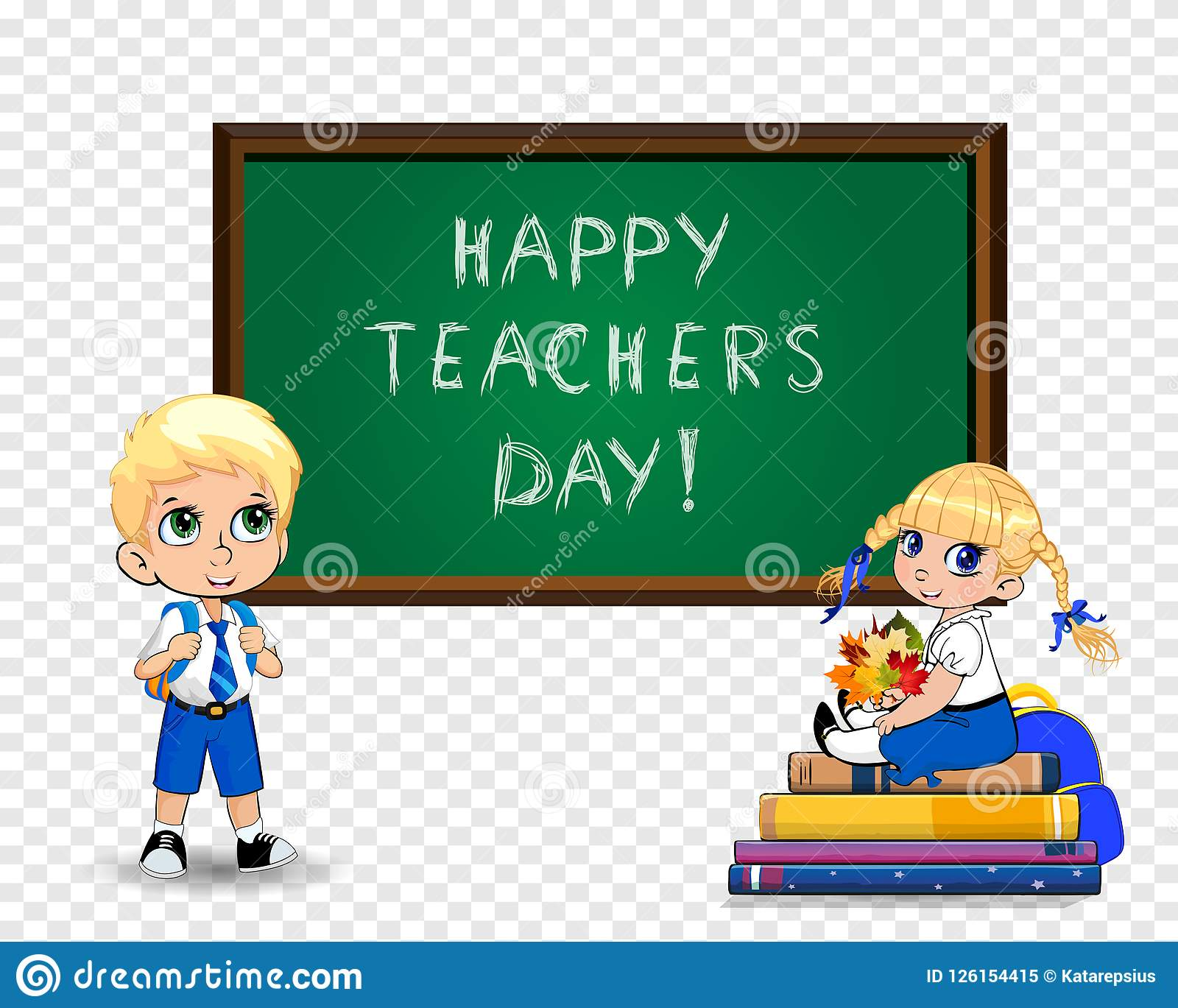 Happy teachers day greeting card clip art with cute cartoon school download happy teachers day greeting card clip art with cute cartoon school kids on transparent background m4hsunfo