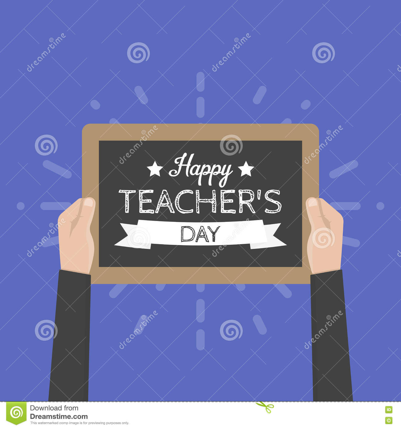 Happy teachers day greeting card vector illustration stock vector happy teachers day greeting card vector illustration kristyandbryce Image collections