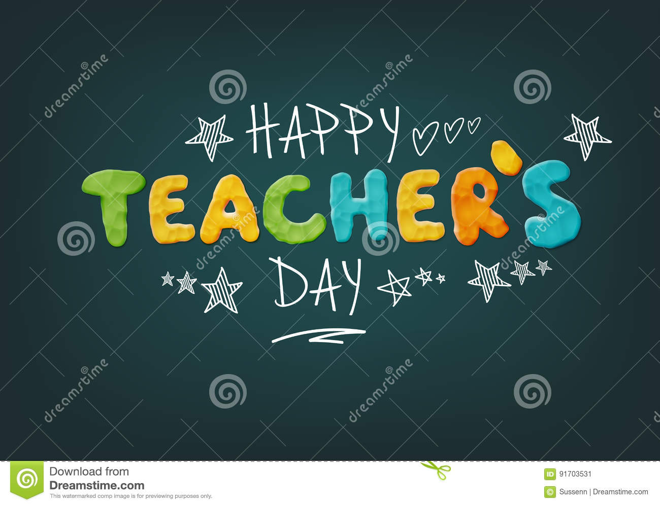 Vector hand drawn teachers day lettering greetings label happy happy teachers day stock image thecheapjerseys Choice Image