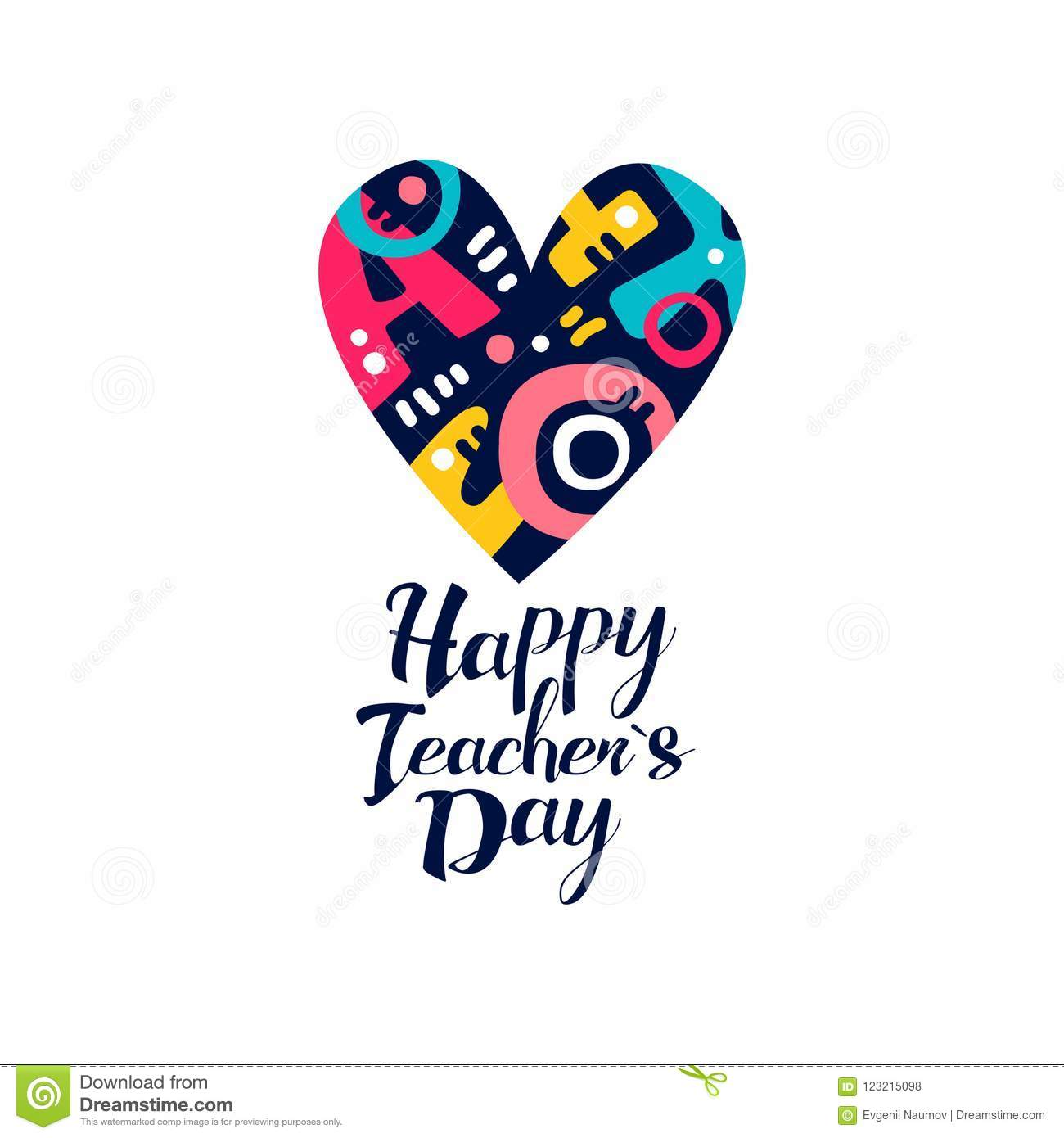 Happy Teachers Day logo, creative template for greeting card, invitation, poster, banner, t-shirt design vector