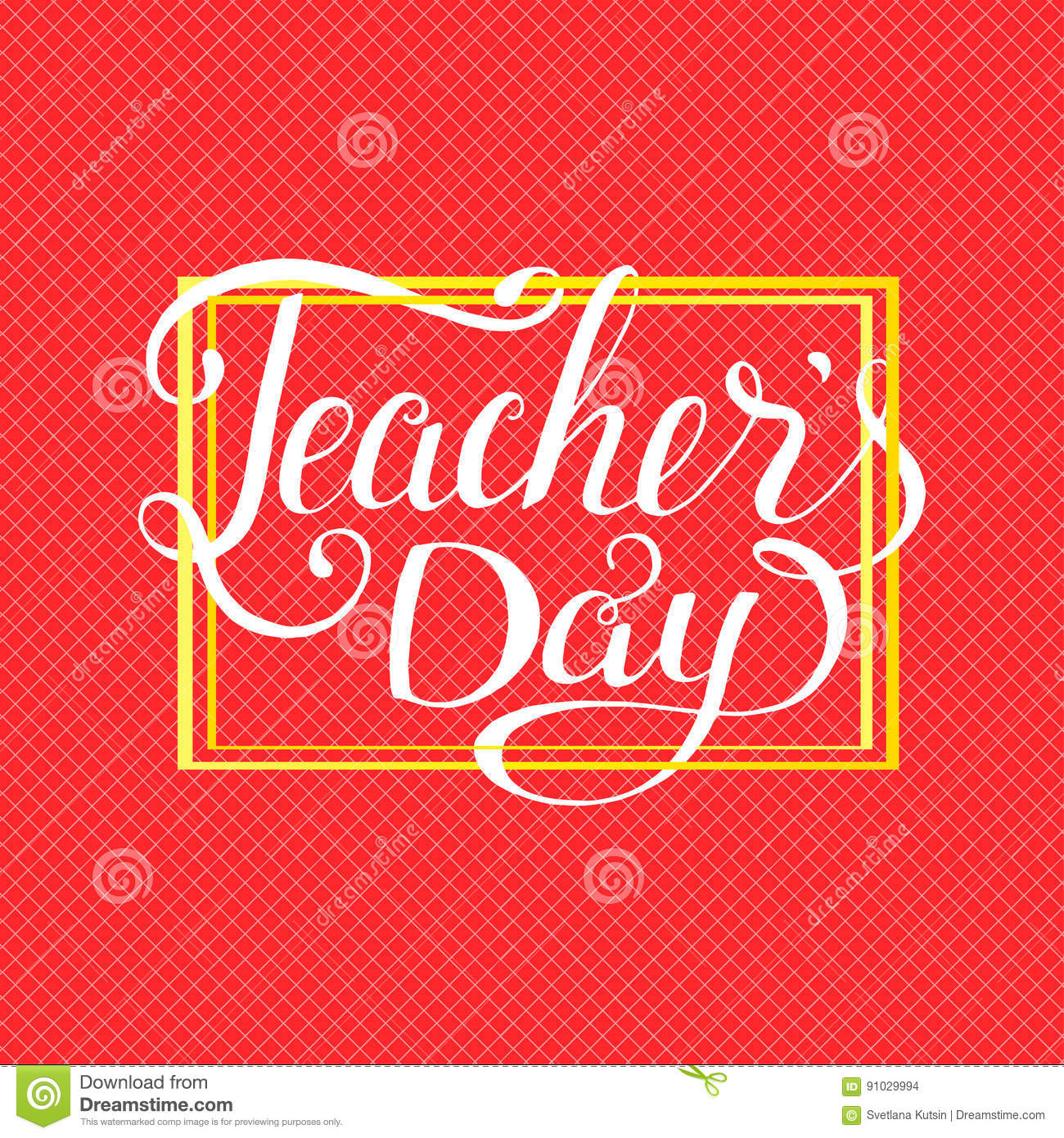 Happy Teachers Day Typography Lettering Design For