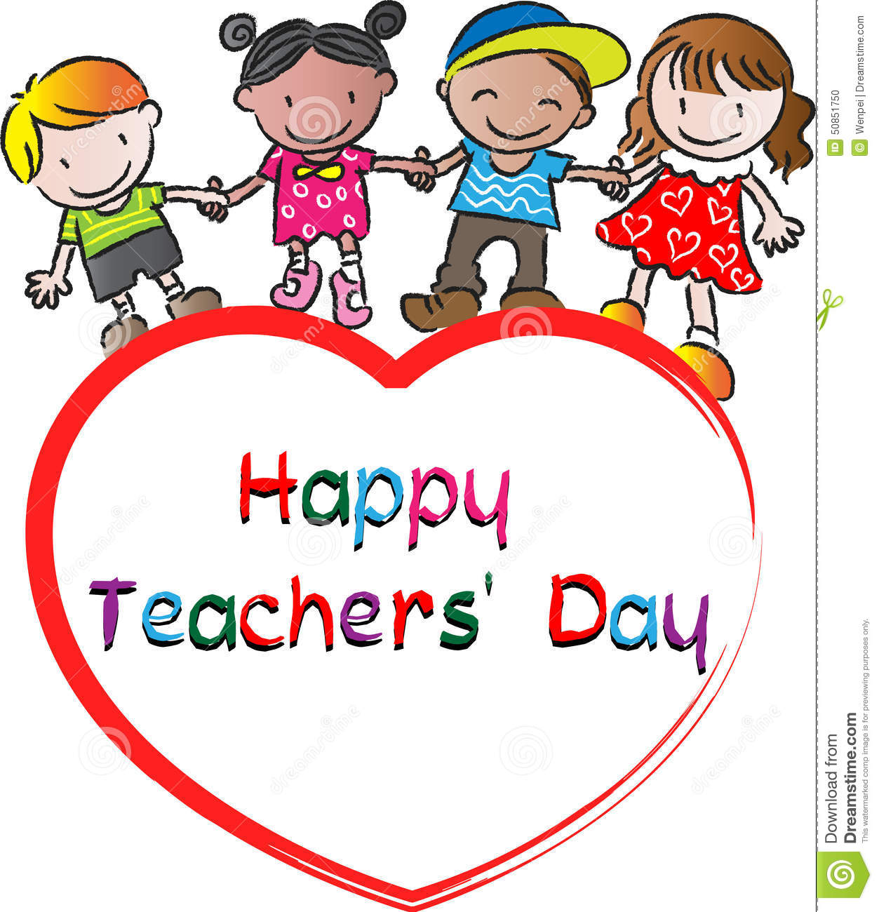 Happy Teachers Day Stock Illustration  Image: 50851750