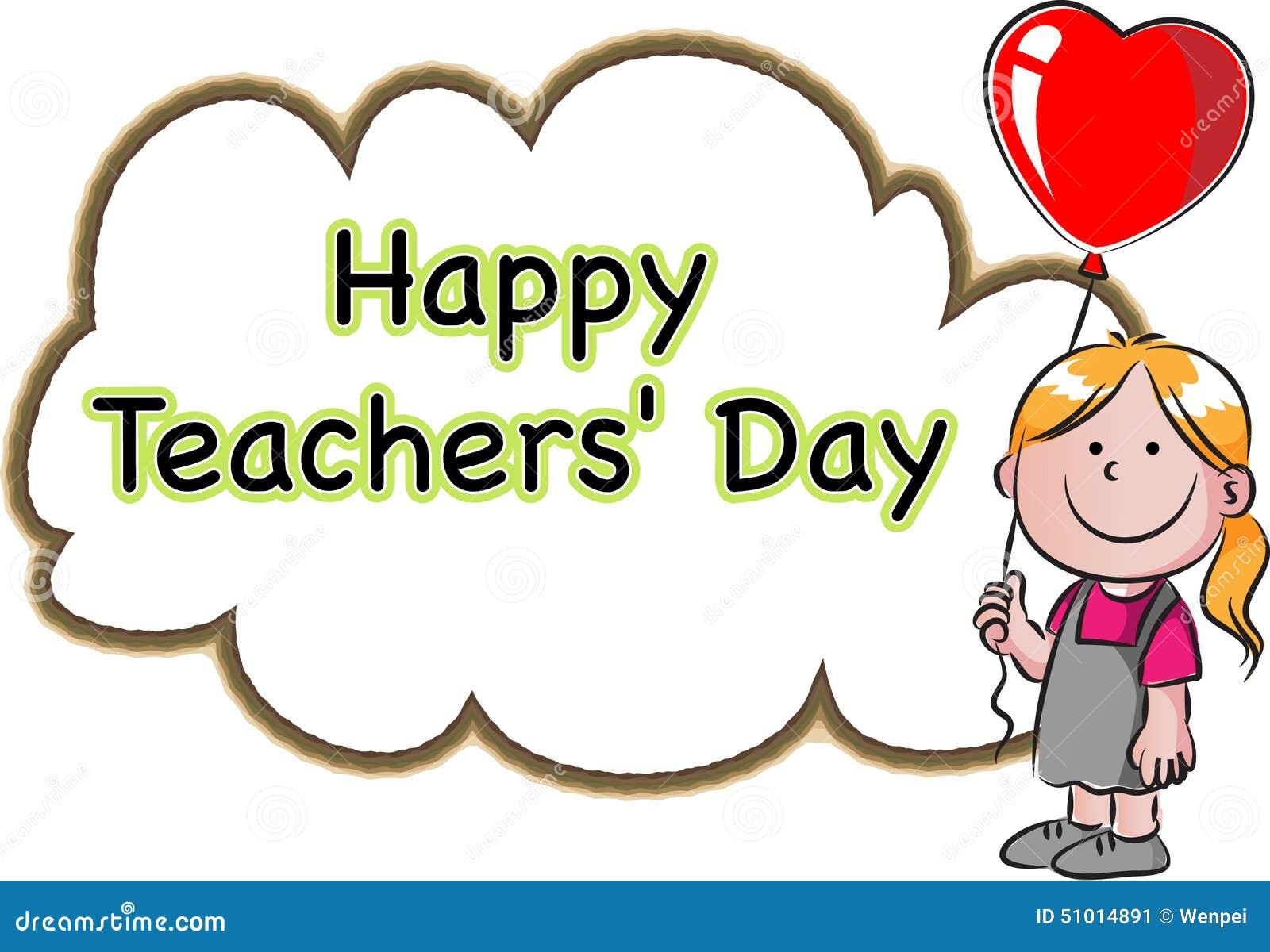 Happy Teachers Day Stock Illustration Image 51014891
