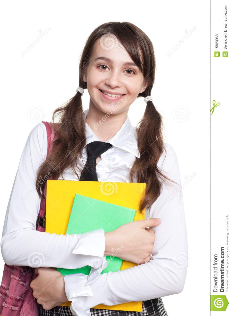 Happy Teen By Crumbling Wall Stock Image