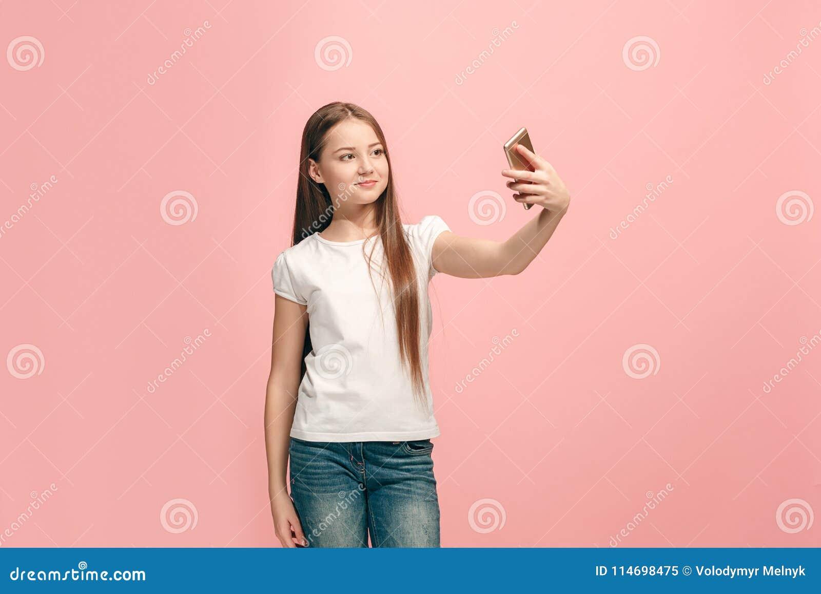 Teen pink selfie — photo 12