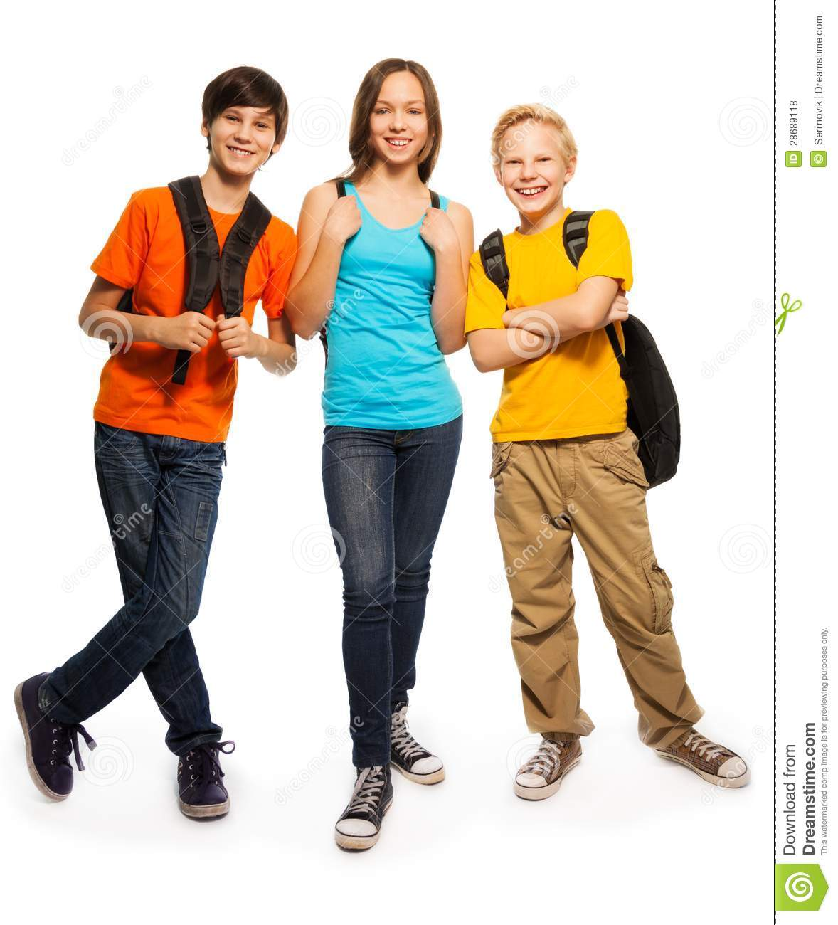 Free Modern Teens Happy Students 11