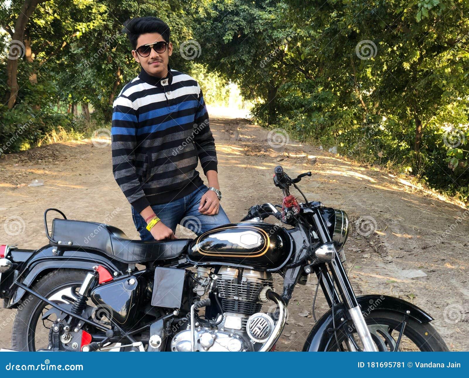 Happy Teenage Boy Pose With Bike Cute Teenager Boy Handsome Man Close Portrait Stock Image Image Of Wheel Vehicle 181695781