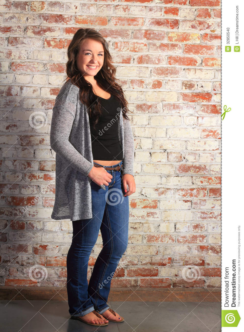Happy Teenage Girl Stock Photo Image 32850540