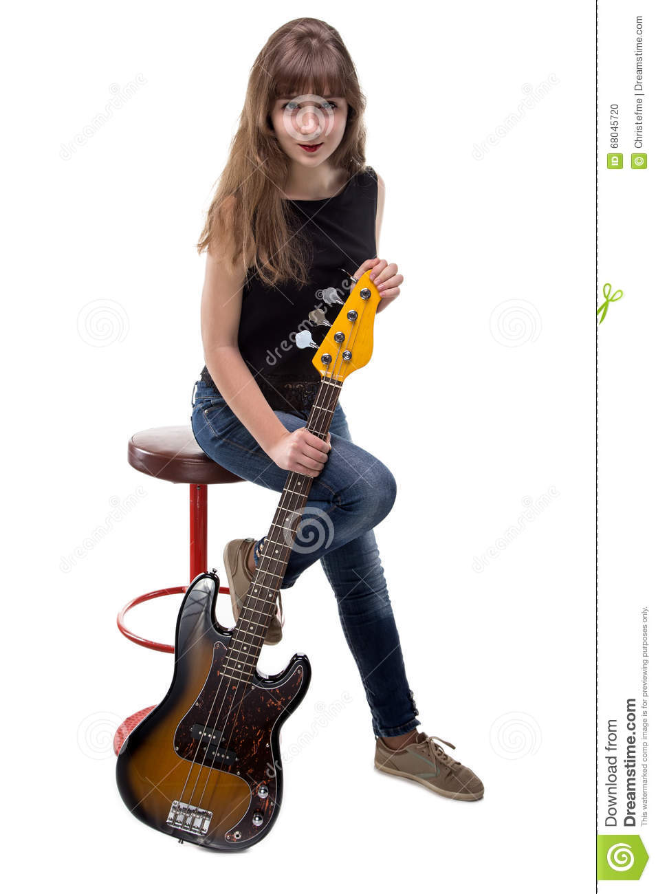Happy Teenage Girl Sitting On Bar Stool Stock Photo  : happy teenage girl sitting bar stool white background 68045720 from www.dreamstime.com size 957 x 1300 jpeg 96kB