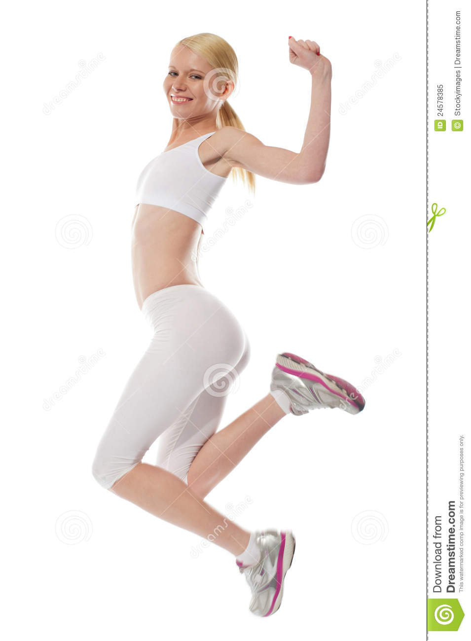 Happy Teenager Jumping With Excitement Royalty Free Stock ...