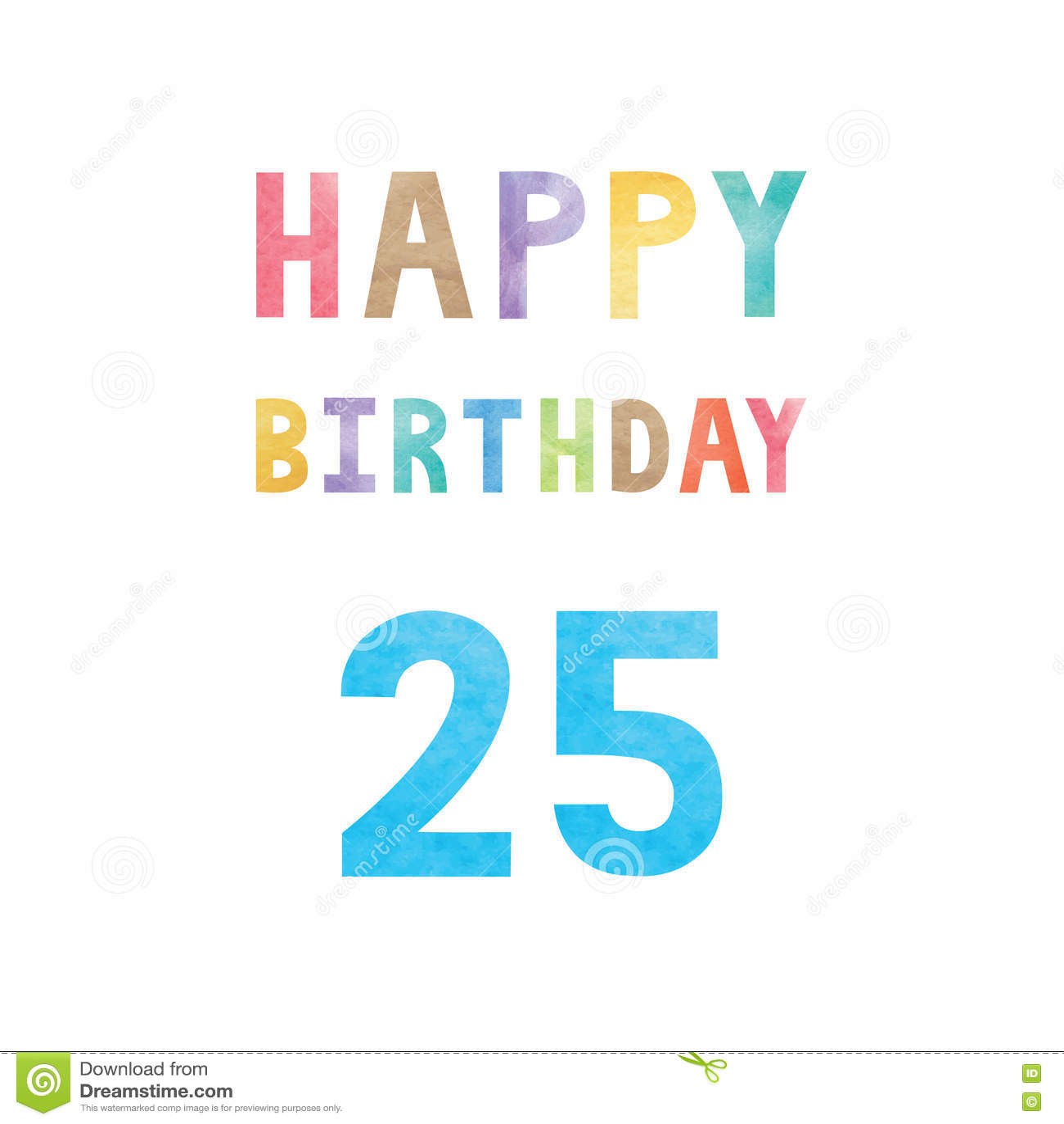 Happy 25th Birthday Anniversary Card