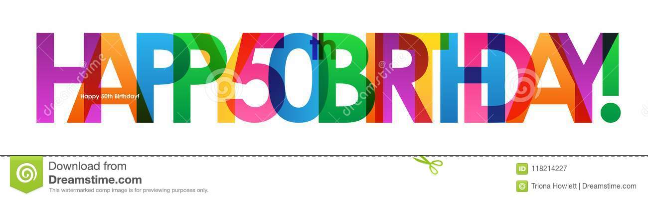 Happy 50th birthday banner stock illustration illustration of download happy 50th birthday banner stock illustration illustration of streamers 118214227 publicscrutiny Images