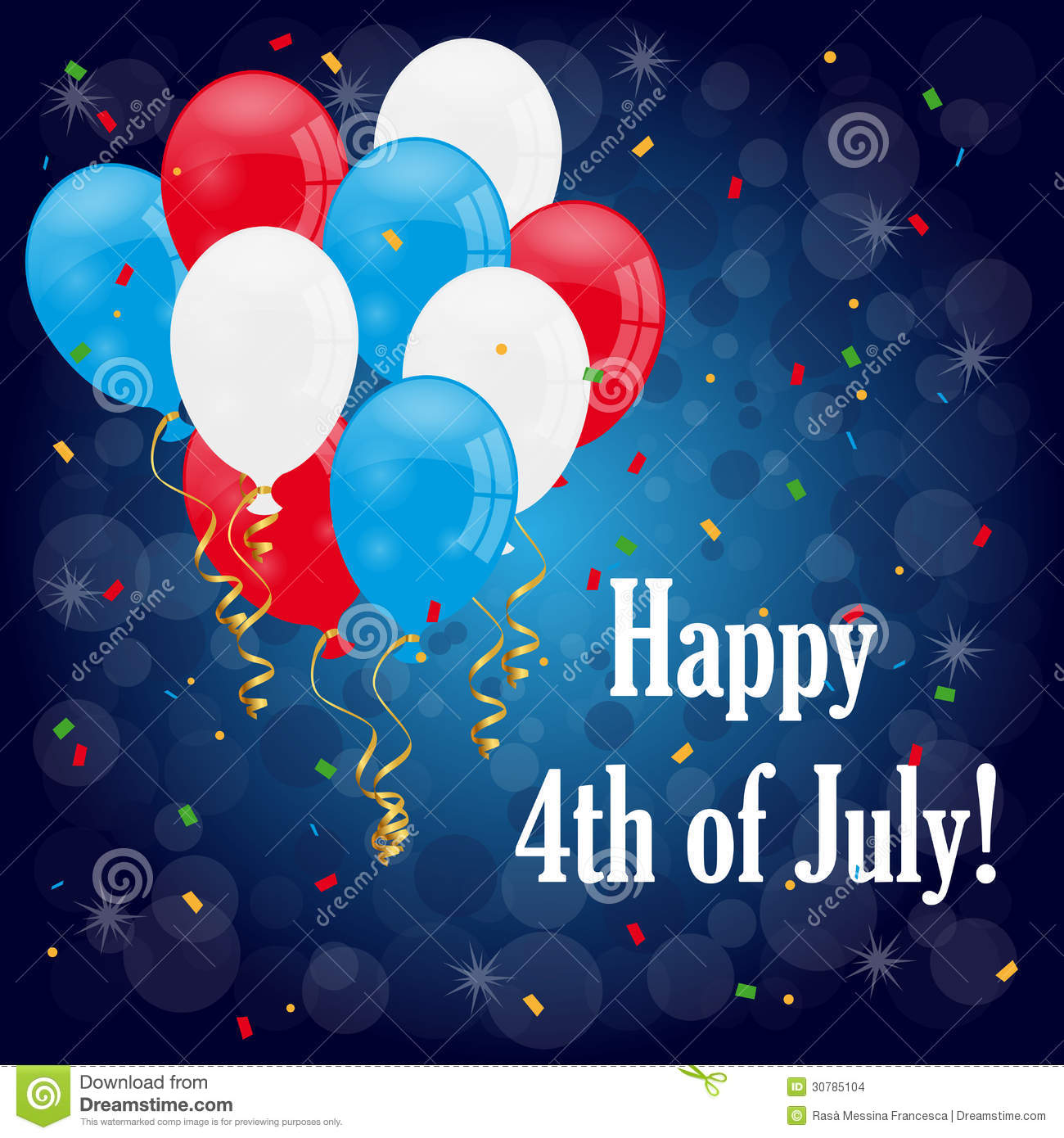happy 4th of july stock vector illustration of stars 30785104