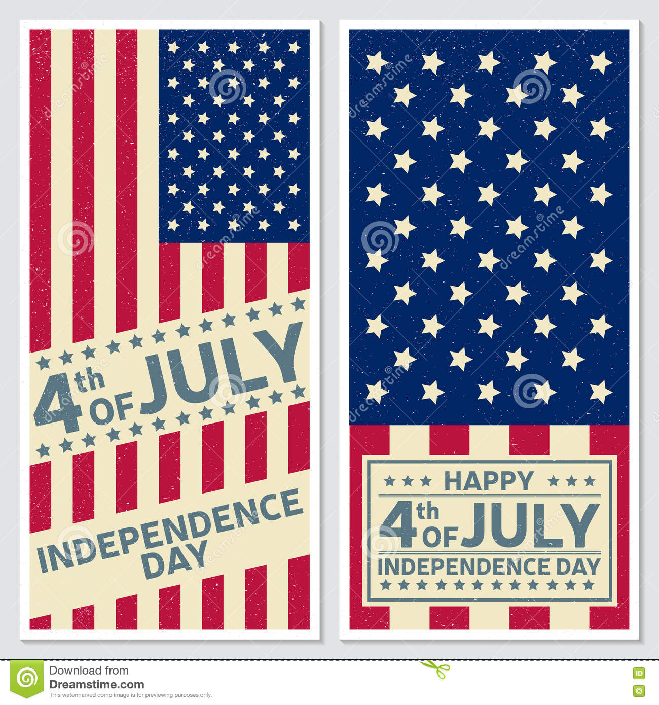 Happy 4th Of July, Independence Day Greeting Card, Flyer