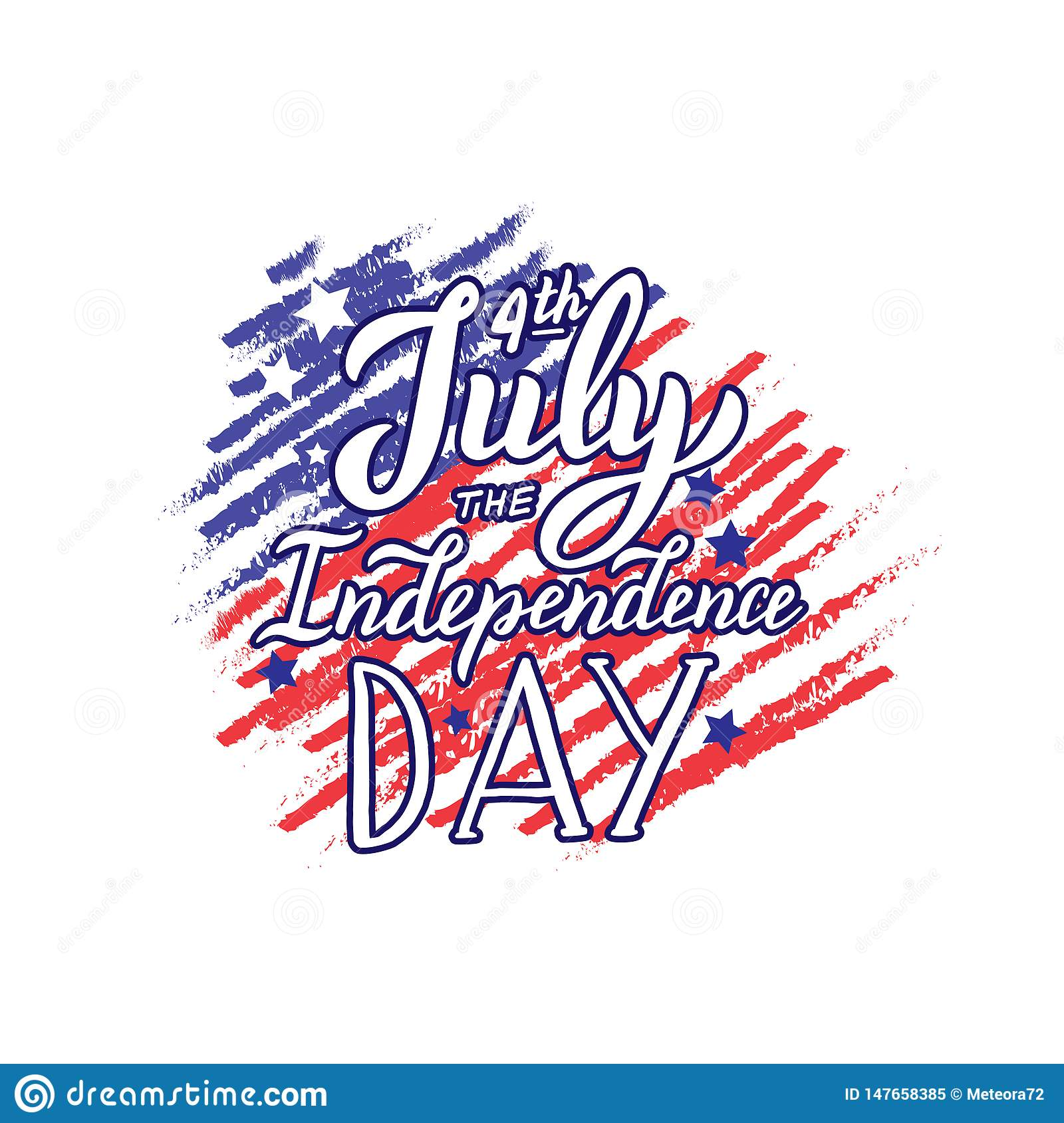 happy th of quote the independence day lettering text