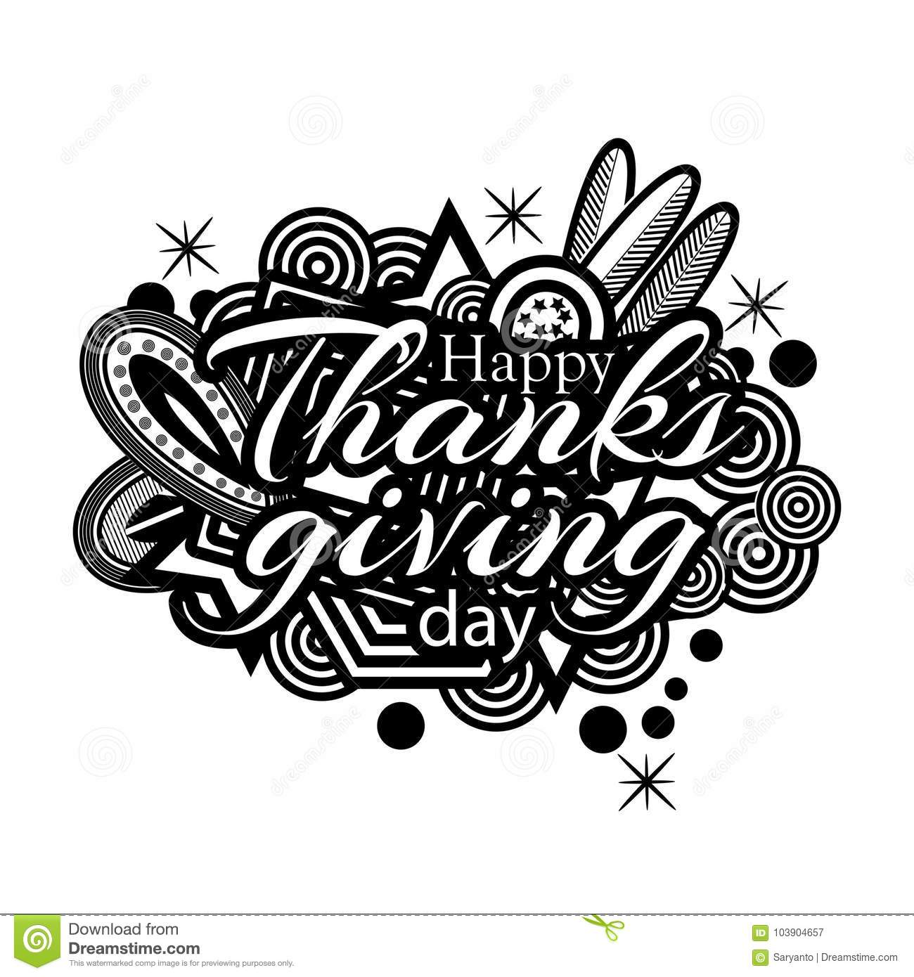 Happy Thanks Giving Day Symbol For Flyer Poster Banner Web Header