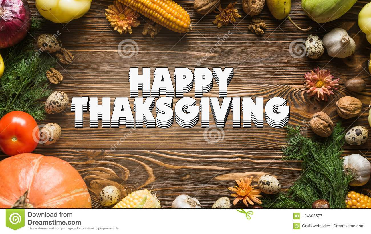 Happy Thanks Giving 002 - White Background - Colorful