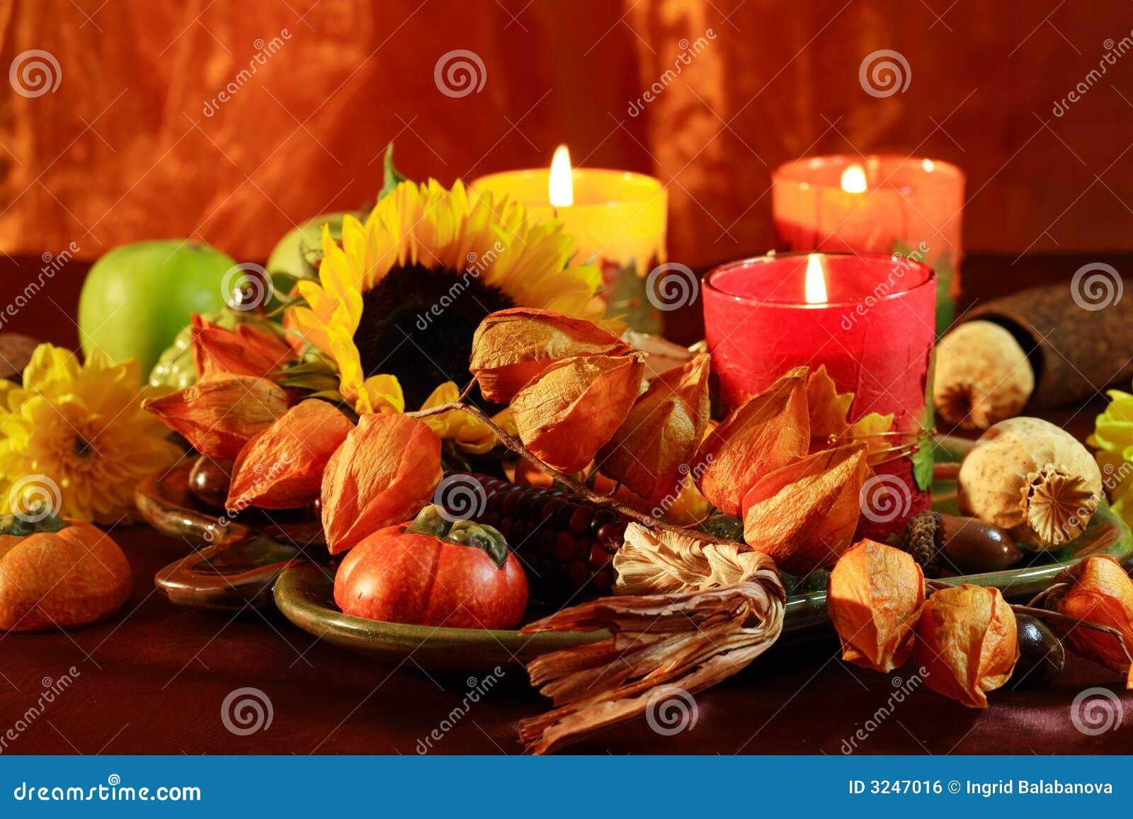 happy thanksgiving stock photo image of seasonal candle 3247016