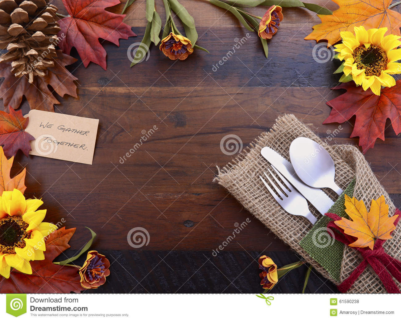 happy thanksgiving background with decorated borders