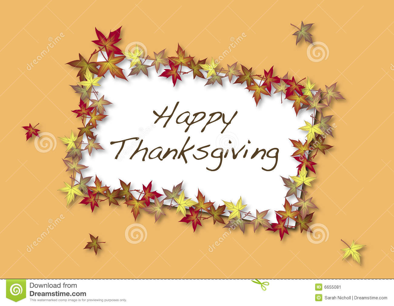 Happy Thanksgiving Card Stock Illustration Illustration Of