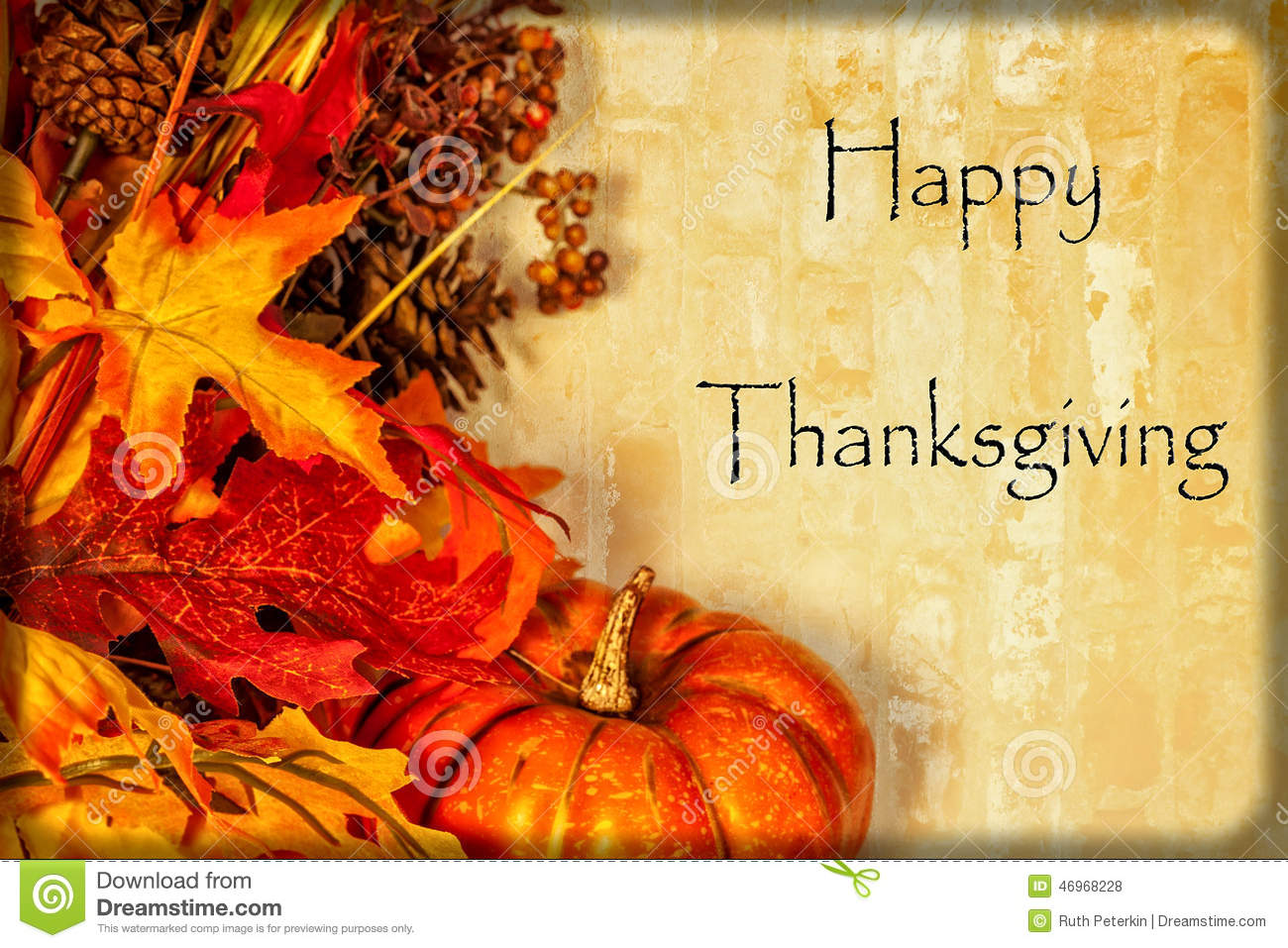 Happy thanksgiving card stock photo image 46968228 Happy thanksgiving decorations