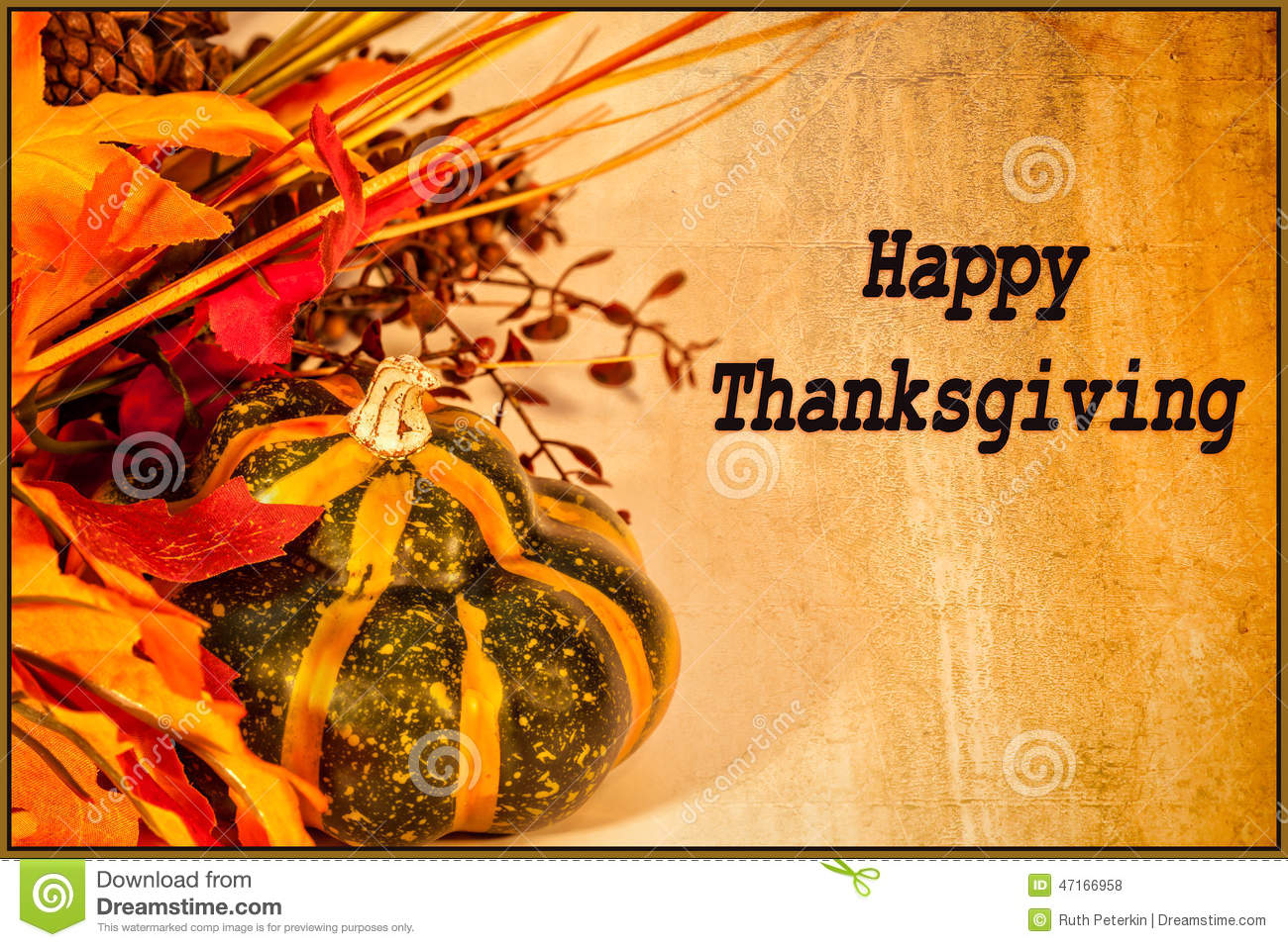 Happy thanksgiving card stock photo image 47166958 Happy thanksgiving decorations