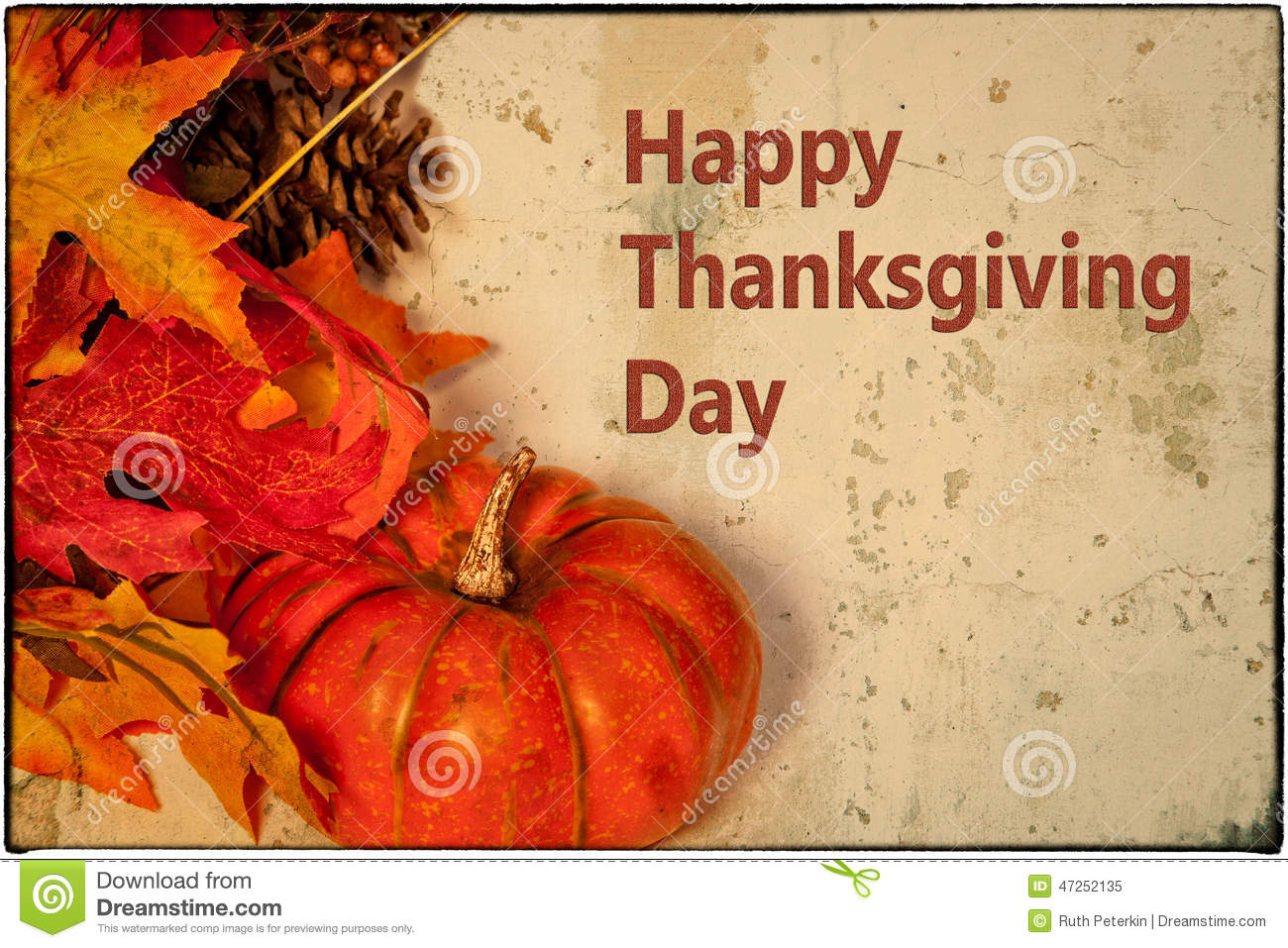 Happy thanksgiving card stock photo image 47252135 Happy thanksgiving decorations
