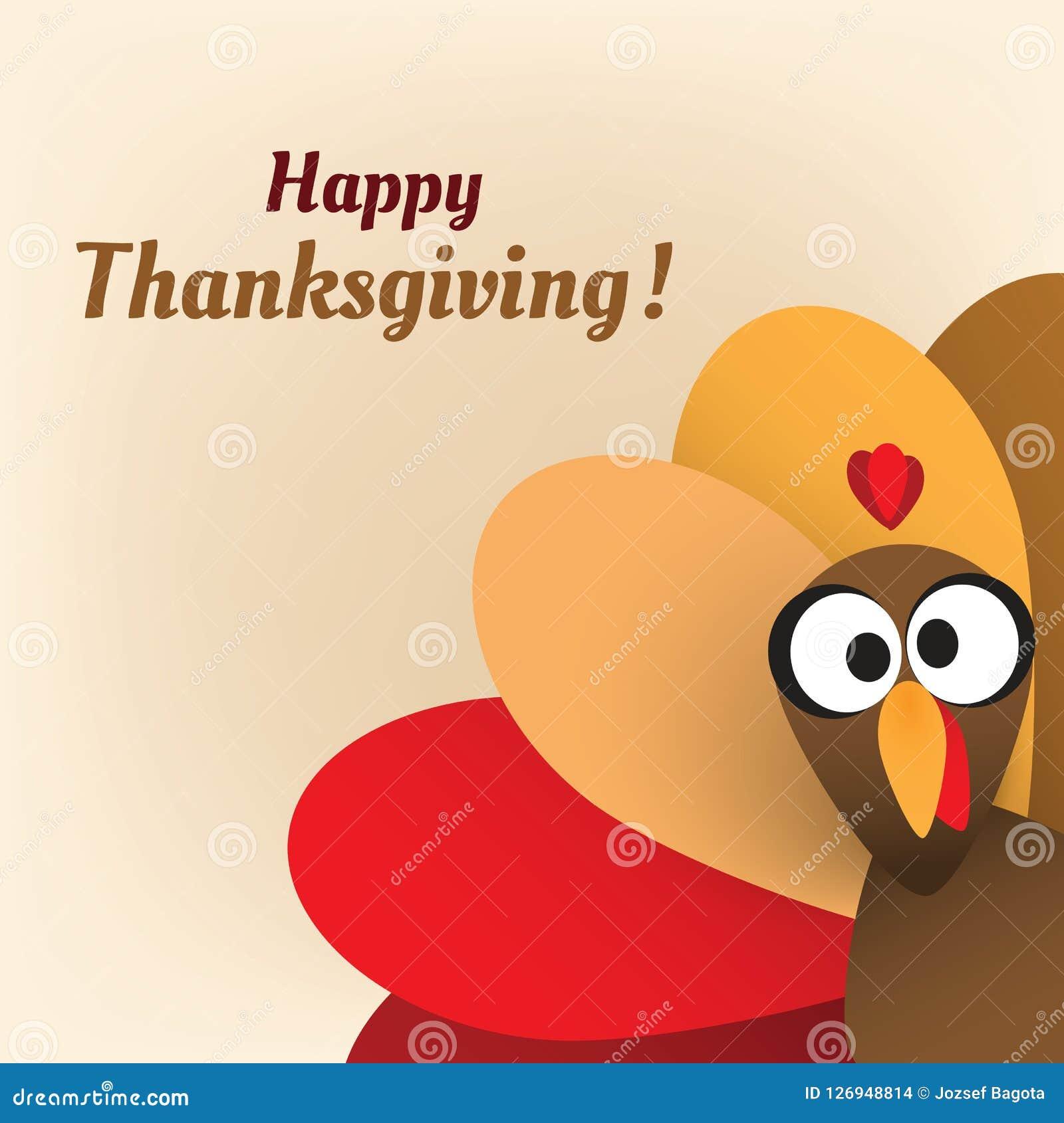 happy thanksgiving card design template stock vector illustration